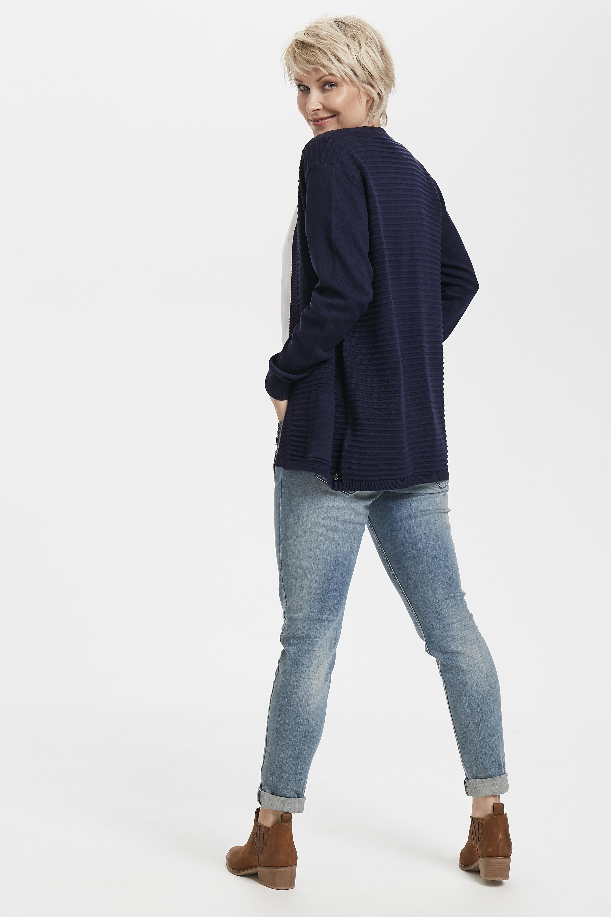 Marinblå Stickad cardigan från Fransa – Köp Marinblå Stickad cardigan från stl. XS-XXL här