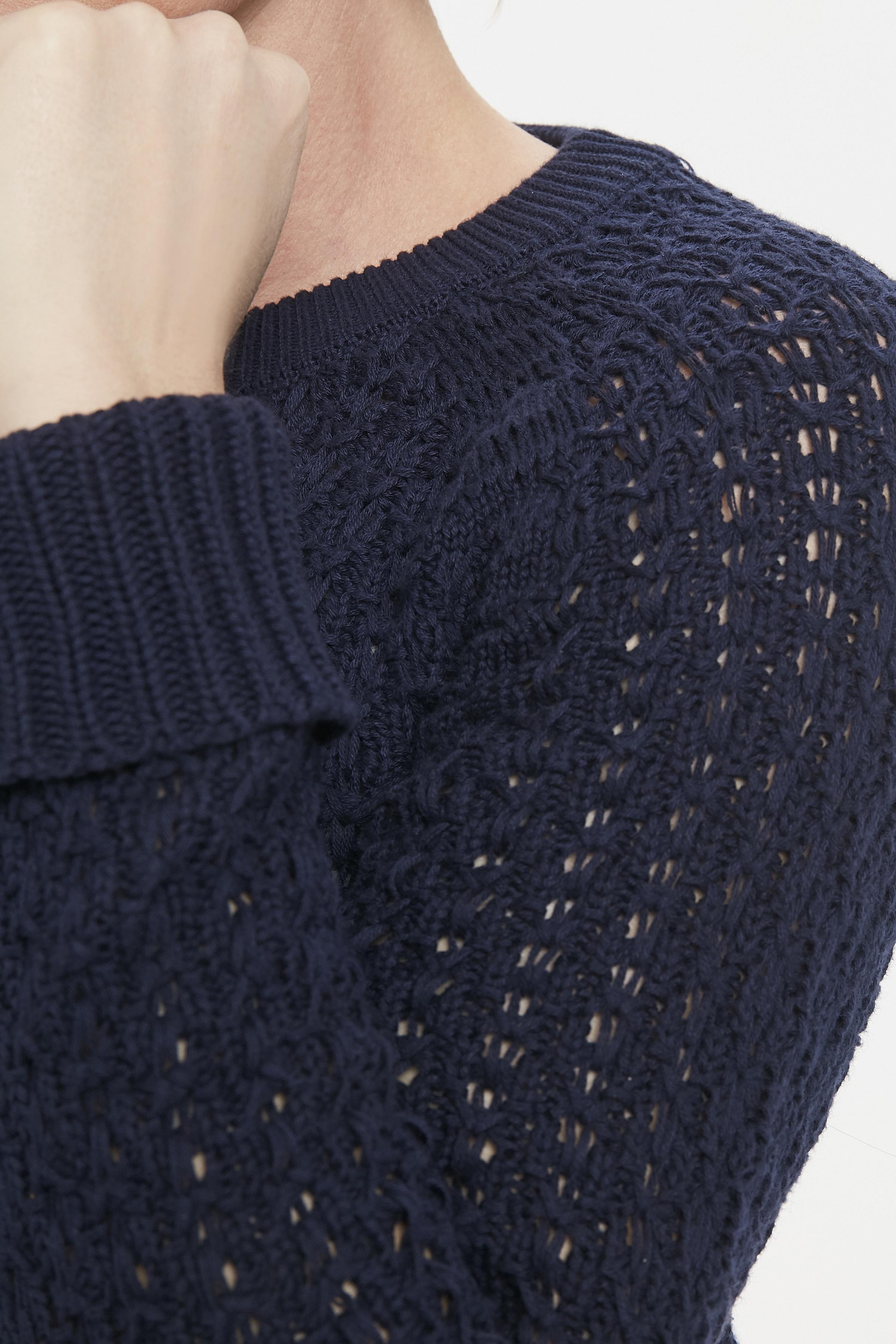 Marinblå Stickad tröja från Fransa – Köp Marinblå Stickad tröja från stl. XS-XXL här