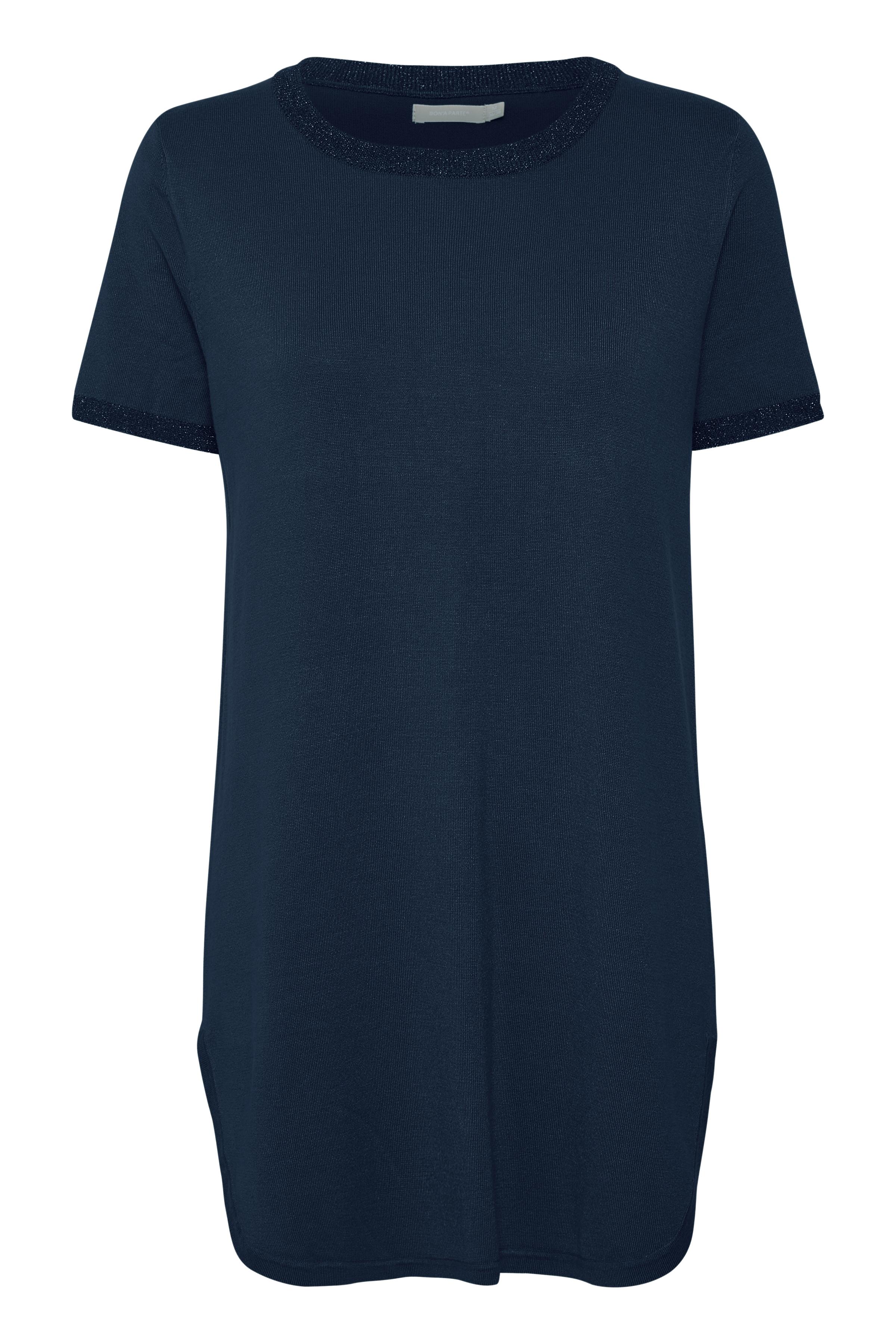 Marinblå Stickad tunika från Bon'A Parte – Köp Marinblå Stickad tunika från stl. S-2XL här