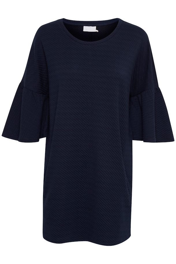 602e1f63c7a0 Marinblå Stickad tunika från Kaffe – Köp Marinblå Stickad tunika från stl.  XS-XXL här