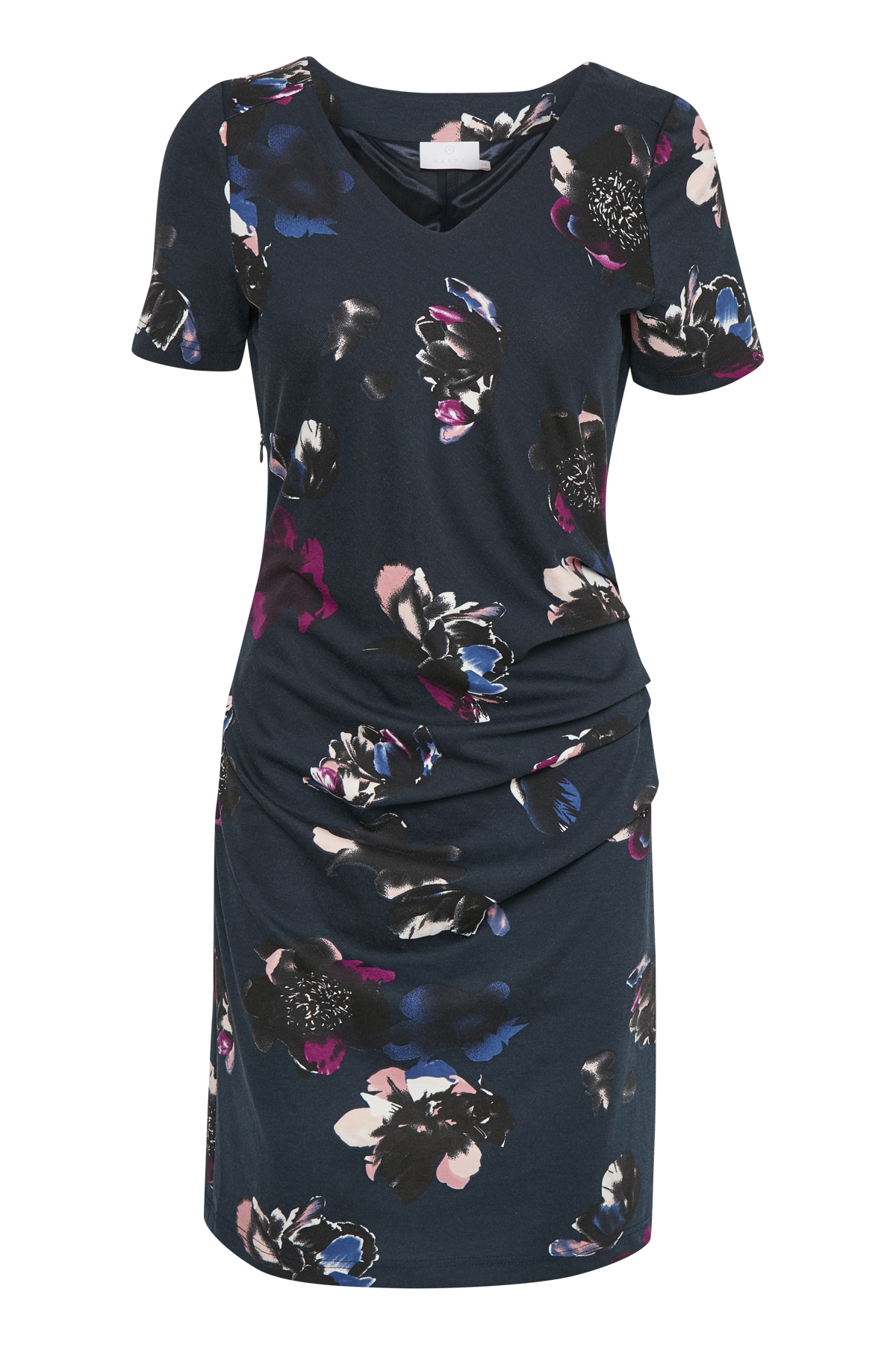 Marinblå Strickad klänning från Kaffe – Köp Marinblå Strickad klänning från stl. XS-XXL här