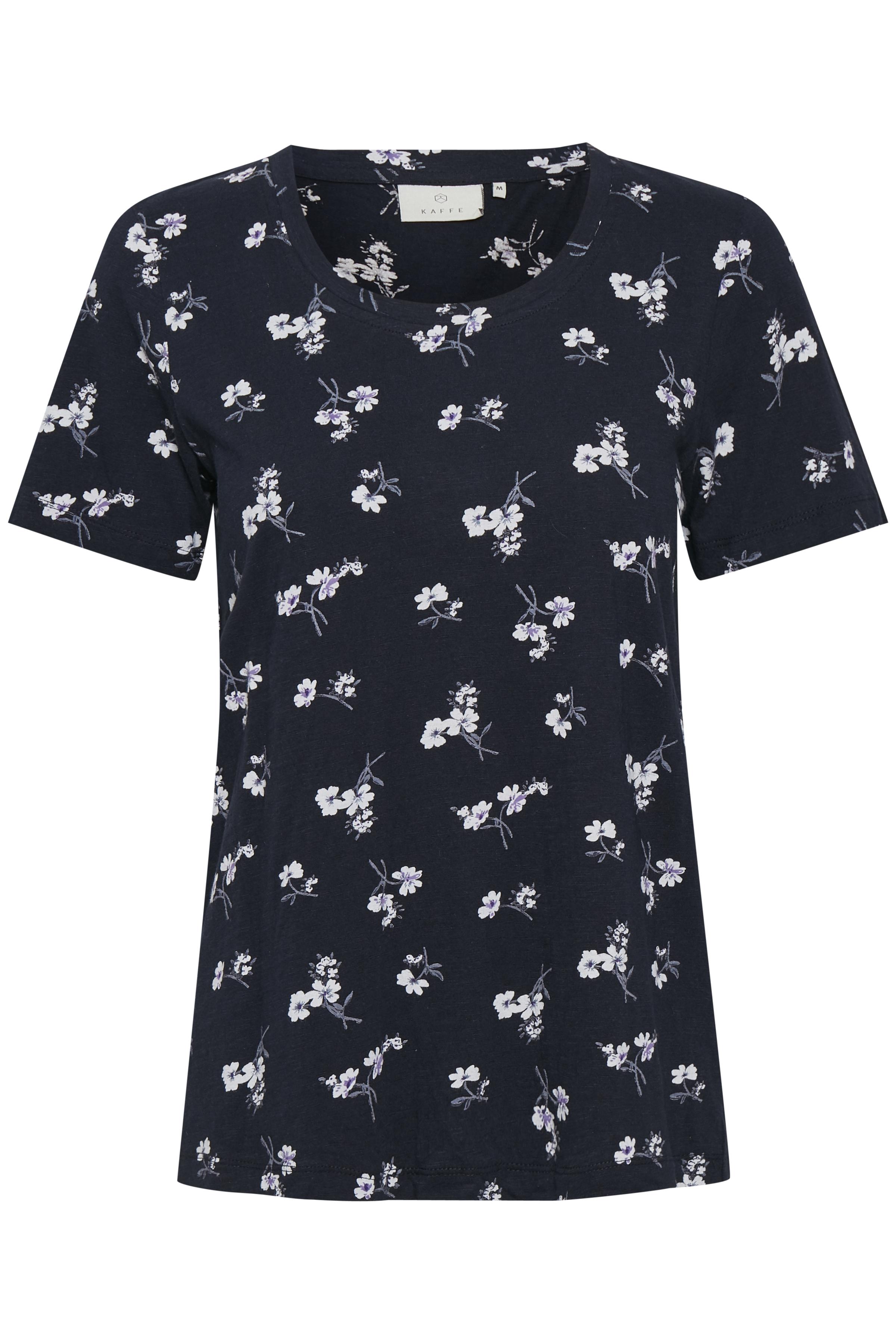 Marinblå/vit Kortärmad T-shirt från Kaffe – Köp Marinblå/vit Kortärmad T-shirt från stl. XS-XXL här