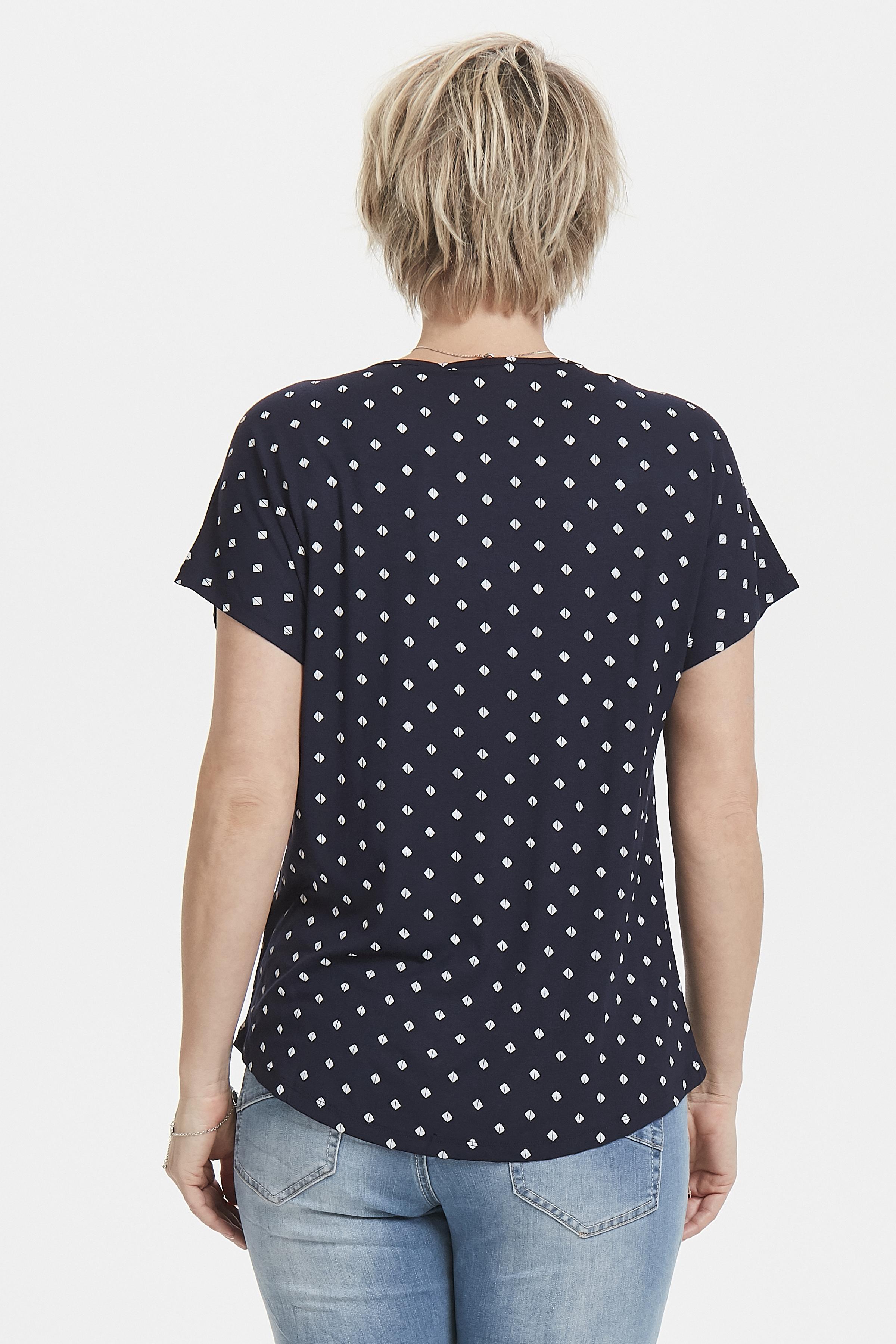 Marinblå/vit Kortärmad T-shirt från Fransa – Köp Marinblå/vit Kortärmad T-shirt från stl. XS-XXL här