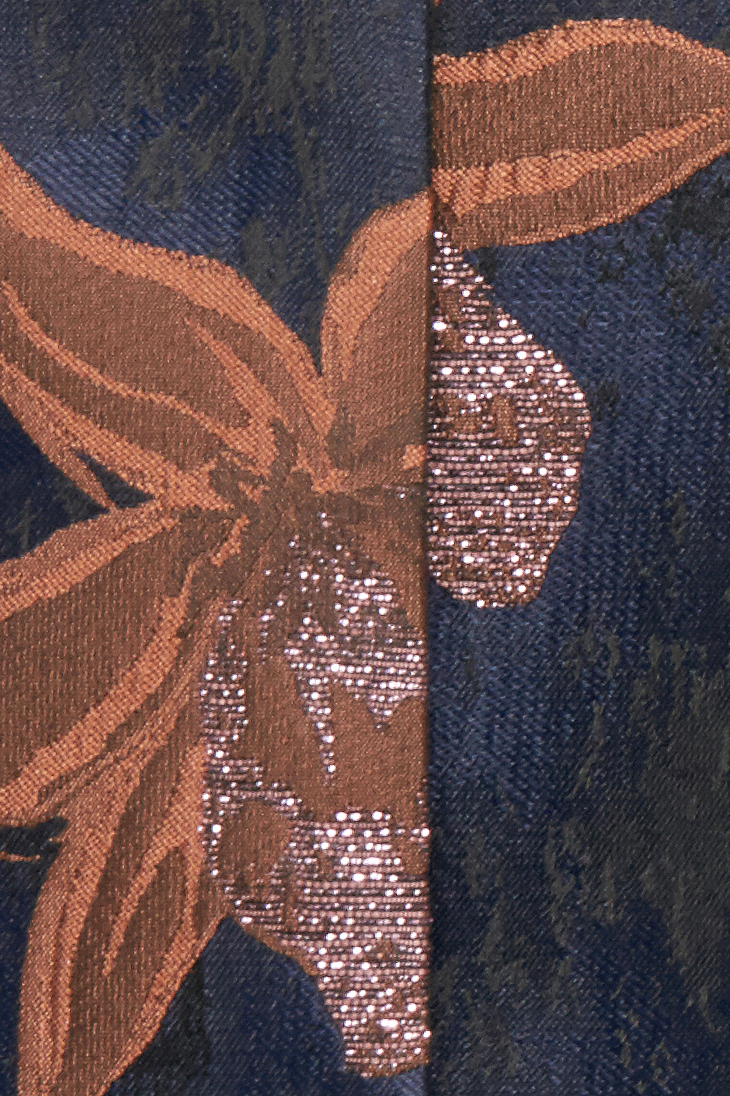 Marineblå/brun Blazer fra Fransa – Køb Marineblå/brun Blazer fra str. 34-46 her