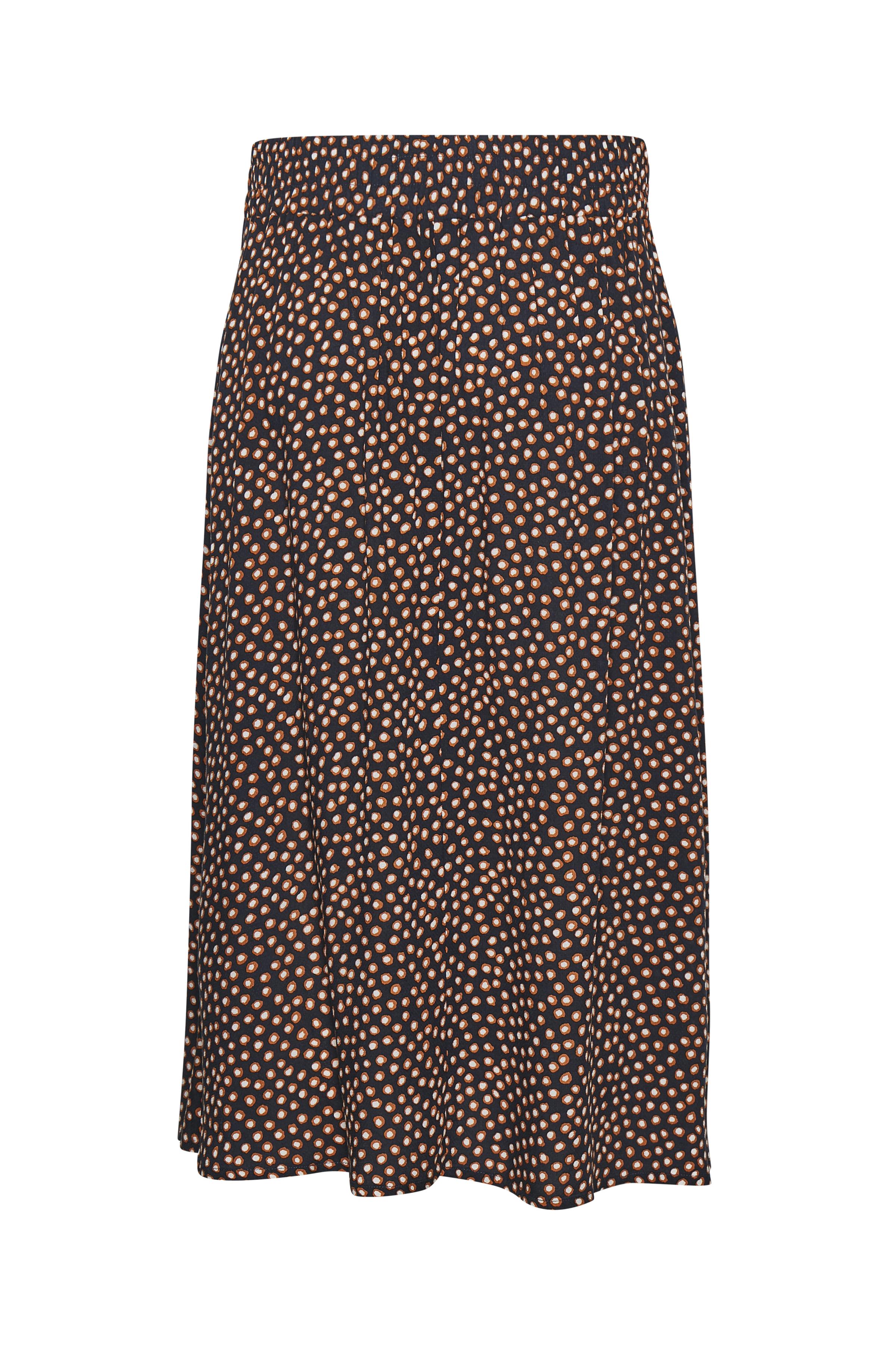 Marineblå/brun Nederdel fra Cream – Køb Marineblå/brun Nederdel fra str. 34-46 her