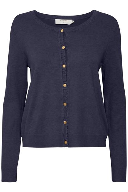 Cream Dame Cardigan - Marineblå