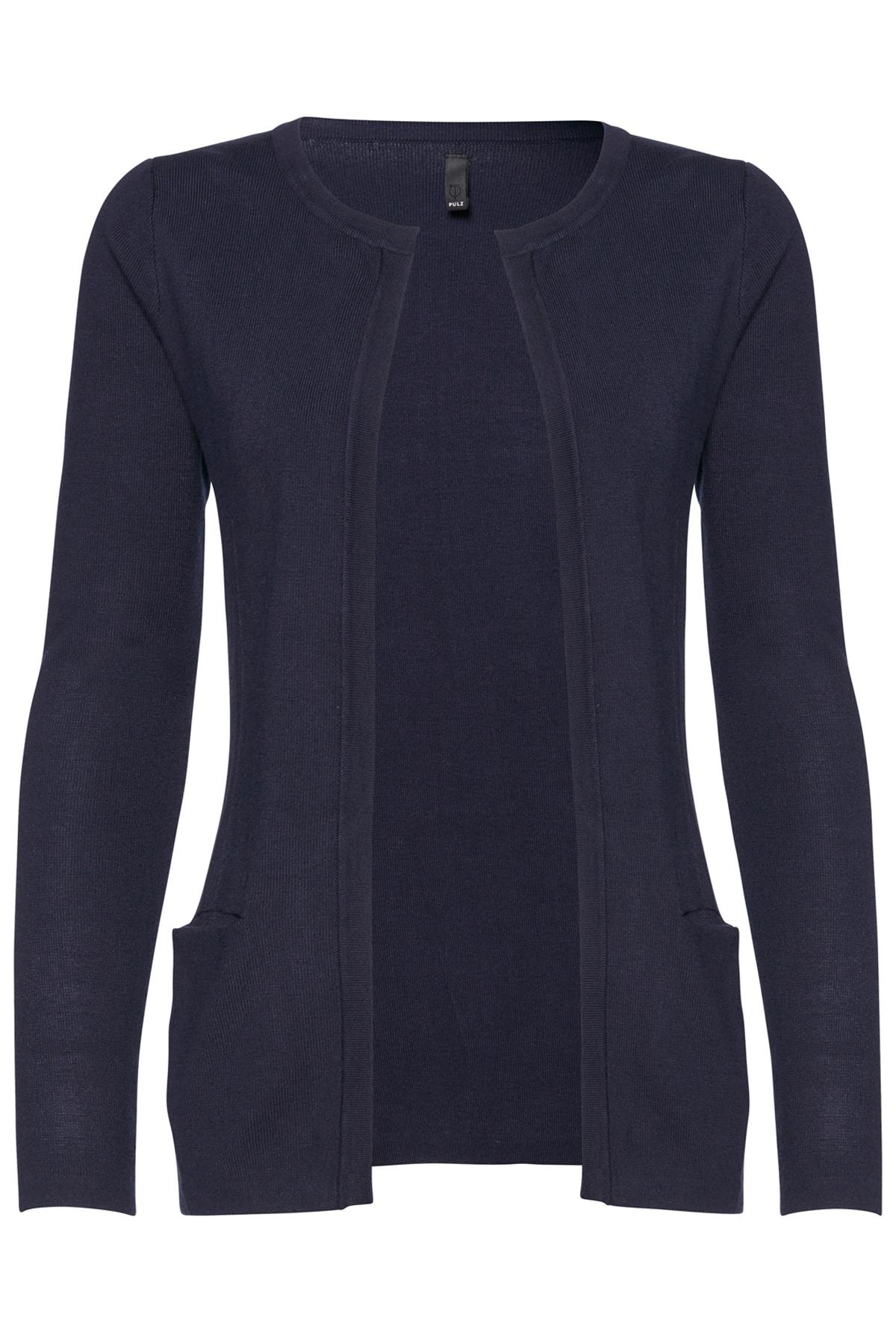 Pulz Jeans Dame Cardigan - Marineblå