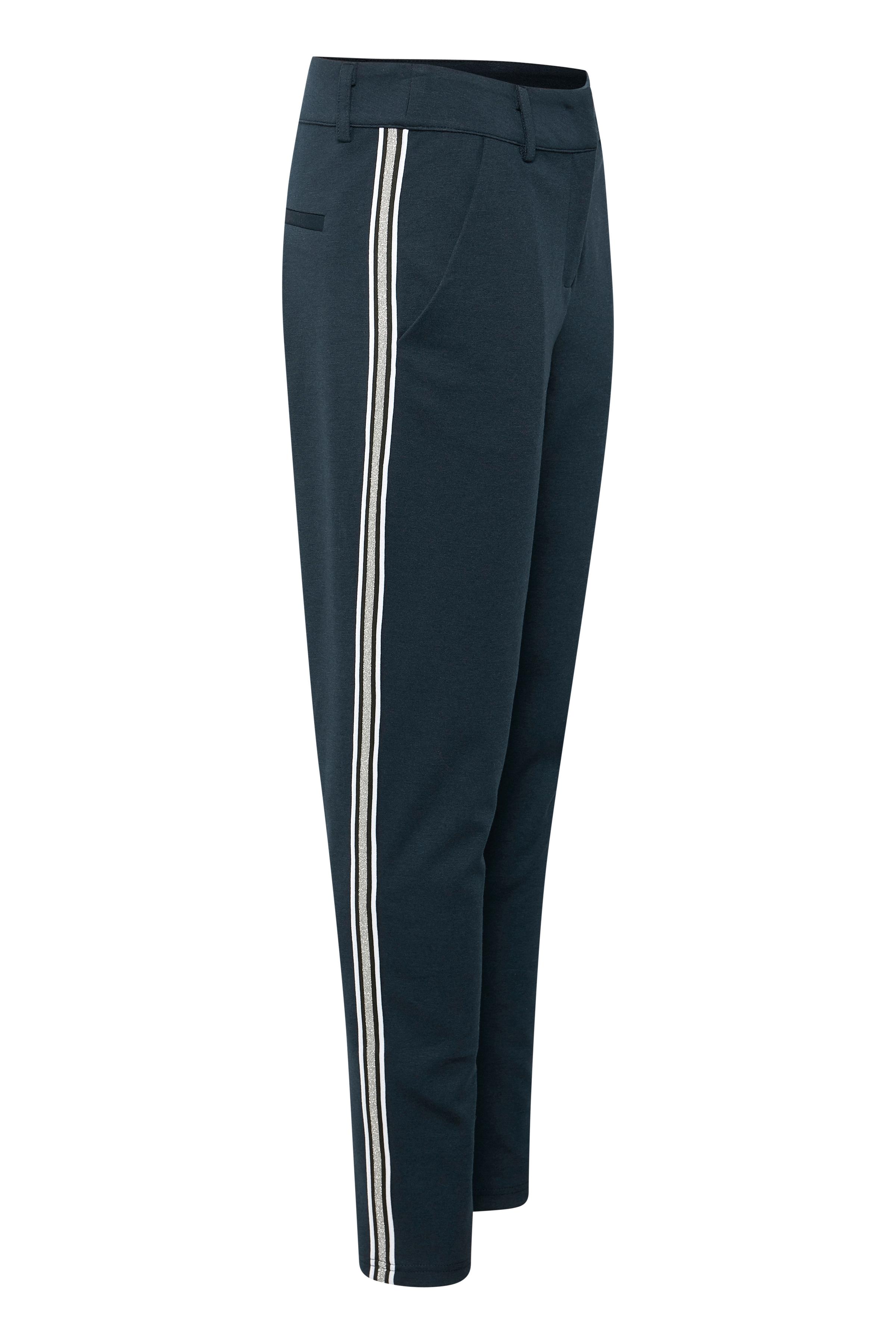 Marineblå Casual bukser fra Bon'A Parte – Køb Marineblå Casual bukser fra str. 36-48 her