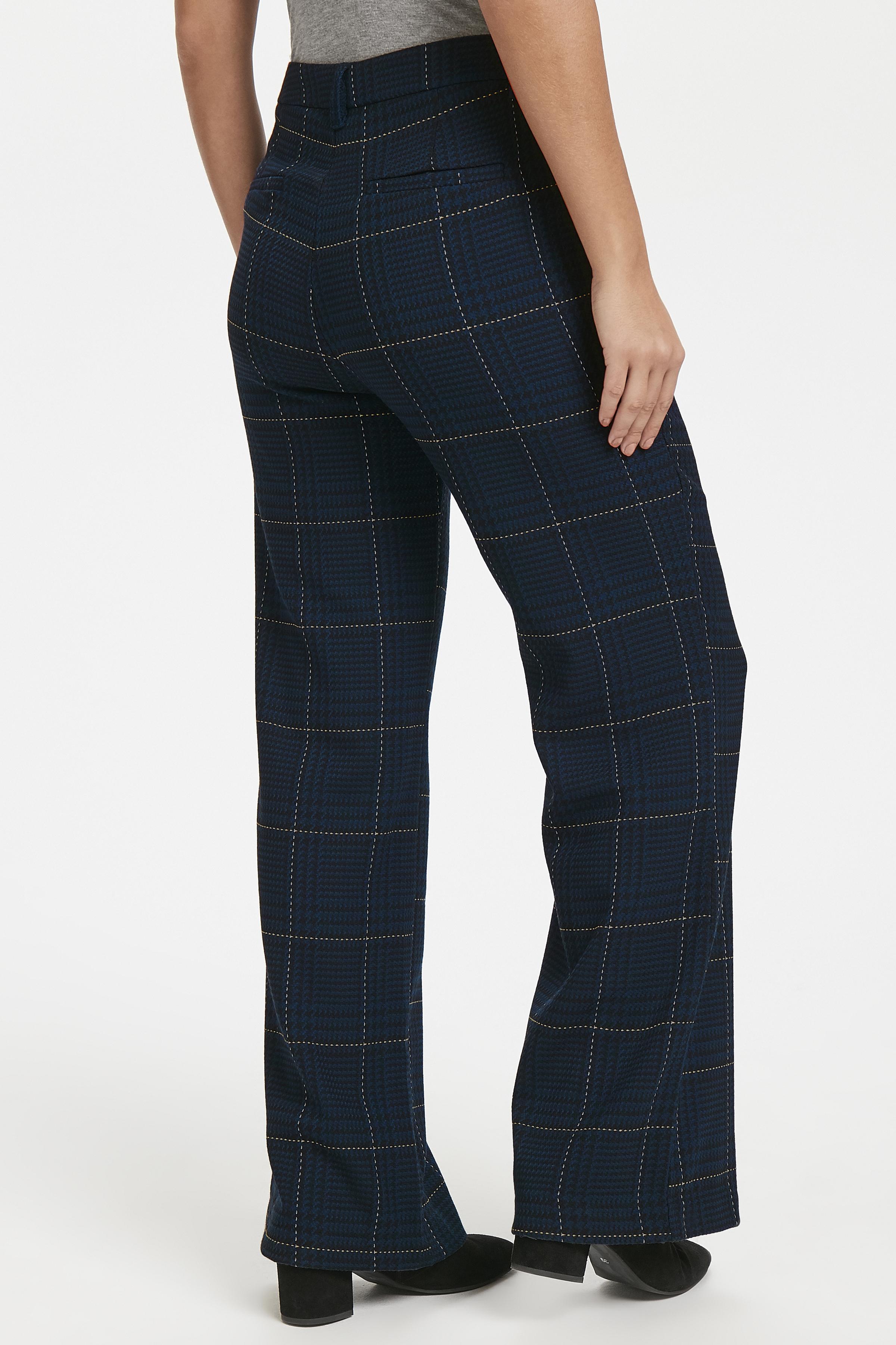 Marineblå Casual bukser fra Pulz Jeans – Køb Marineblå Casual bukser fra str. 32-46 her