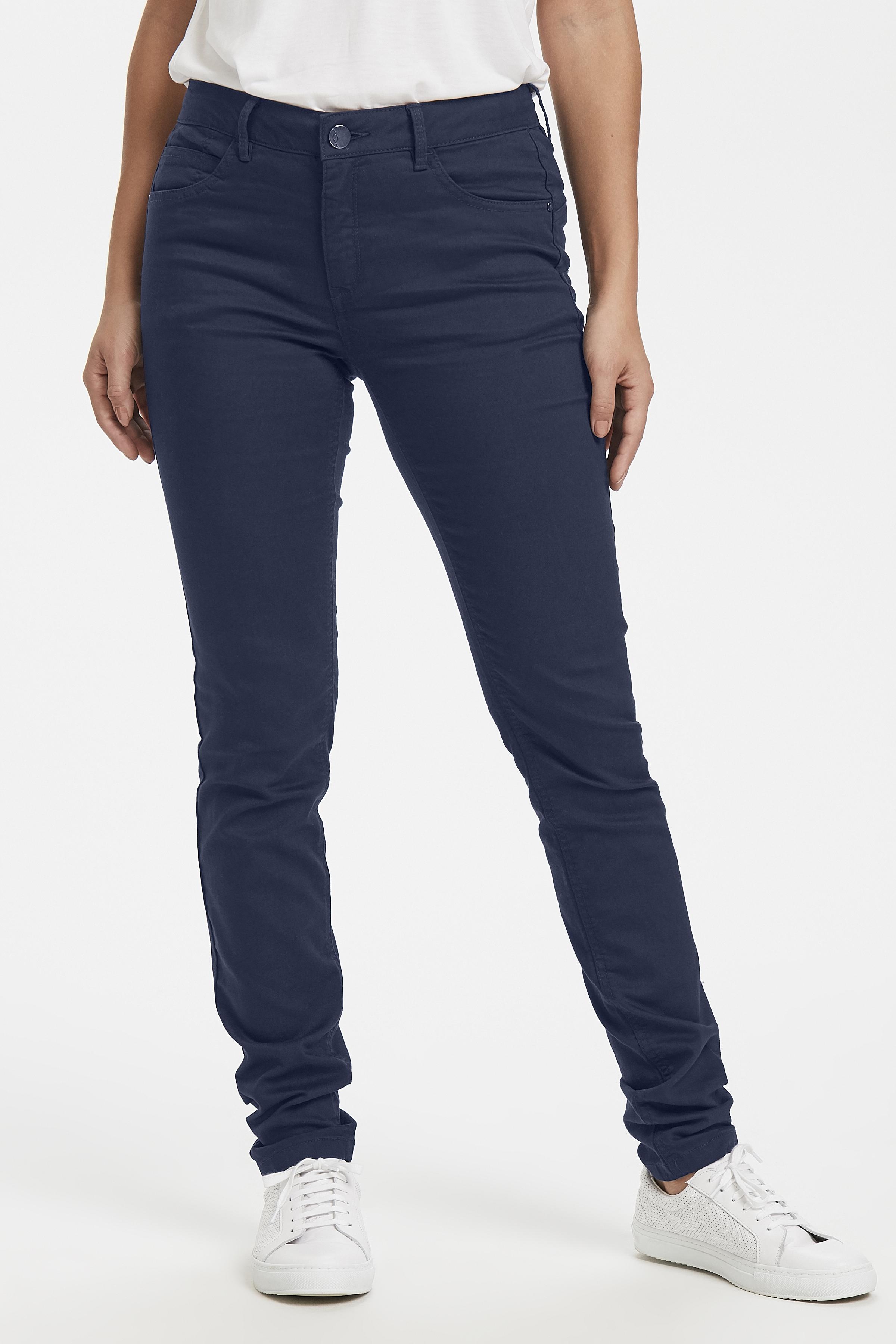 Marineblå Casual bukser fra Fransa – Køb Marineblå Casual bukser fra str. 34-46 her