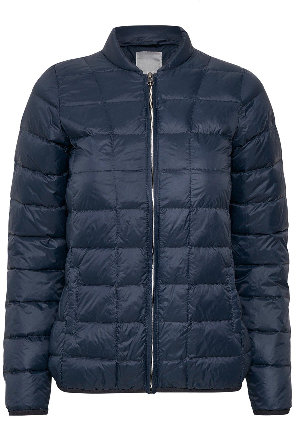 Marineblå Frakke fra Fransa – Køb Marineblå Frakke fra str. XS-XXL her