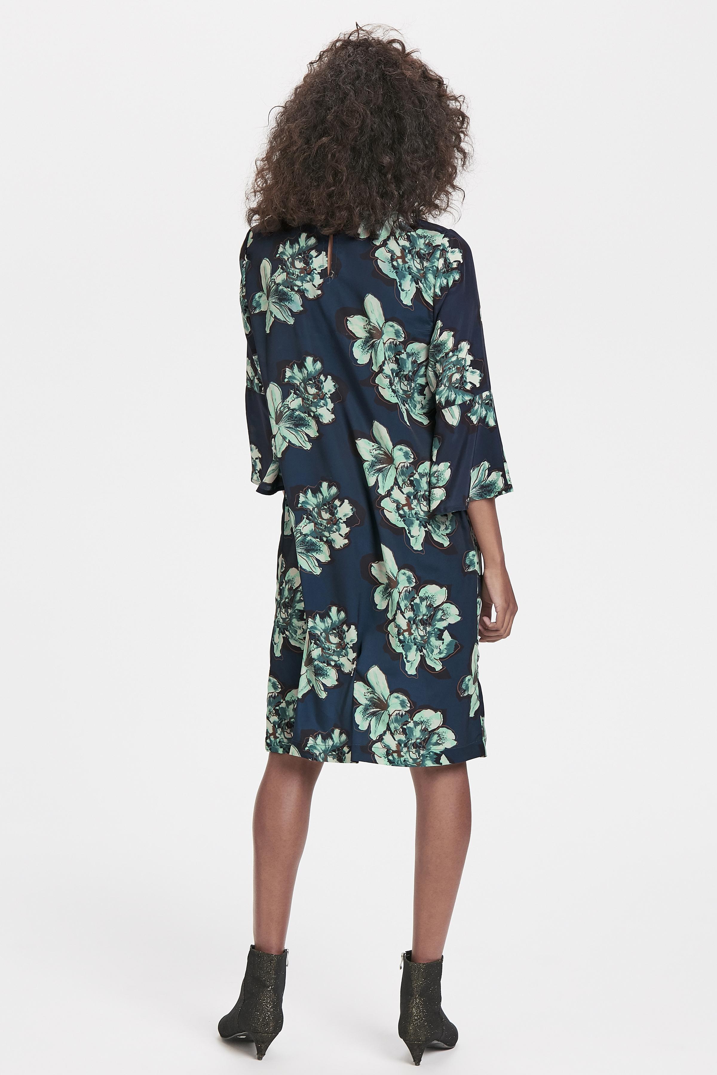 Marineblå/grøn Kjole fra Bon'A Parte – Køb Marineblå/grøn Kjole fra str. S-2XL her