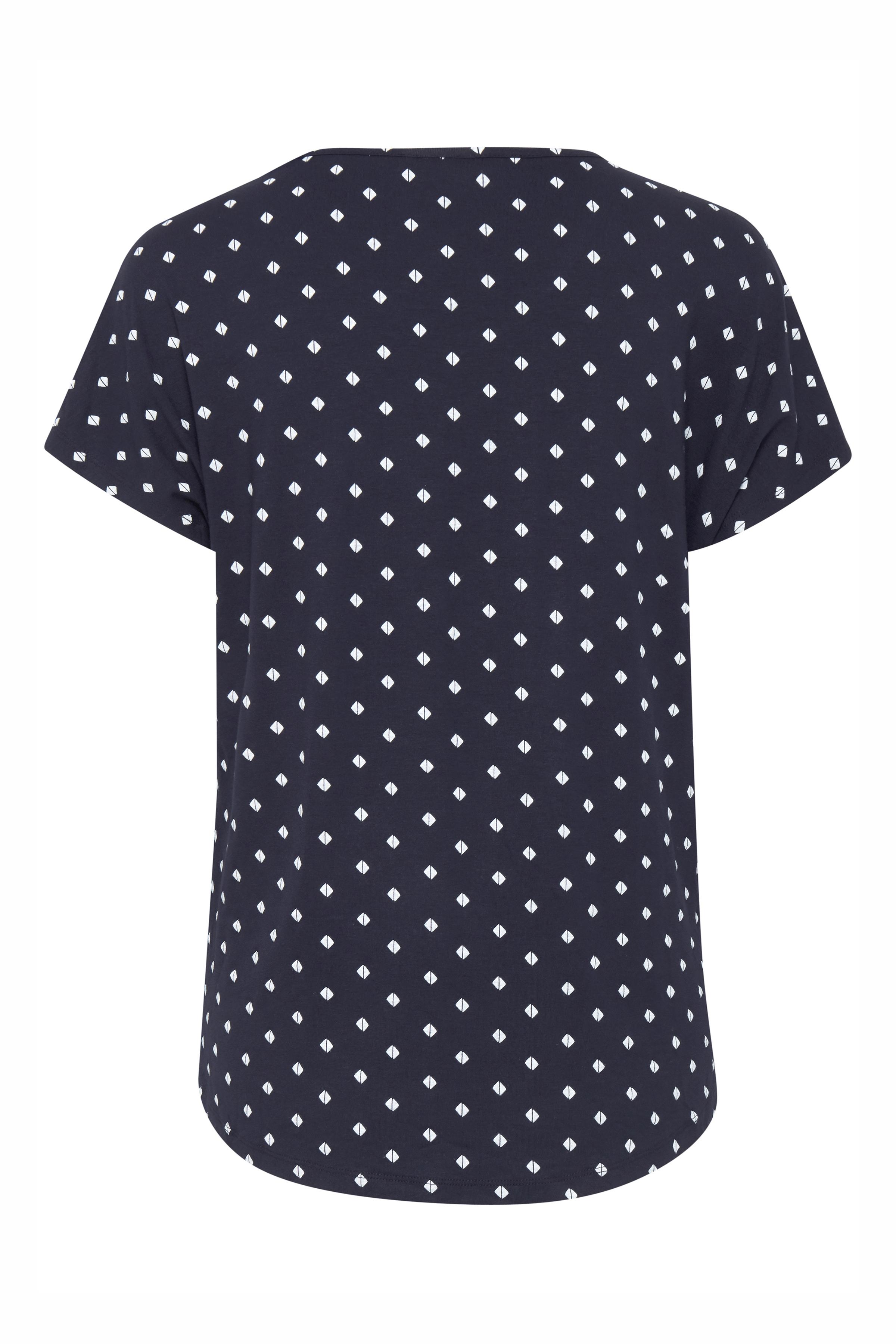 Marineblå/hvid Kortærmet T-shirt fra Fransa – Køb Marineblå/hvid Kortærmet T-shirt fra str. XS-XXL her