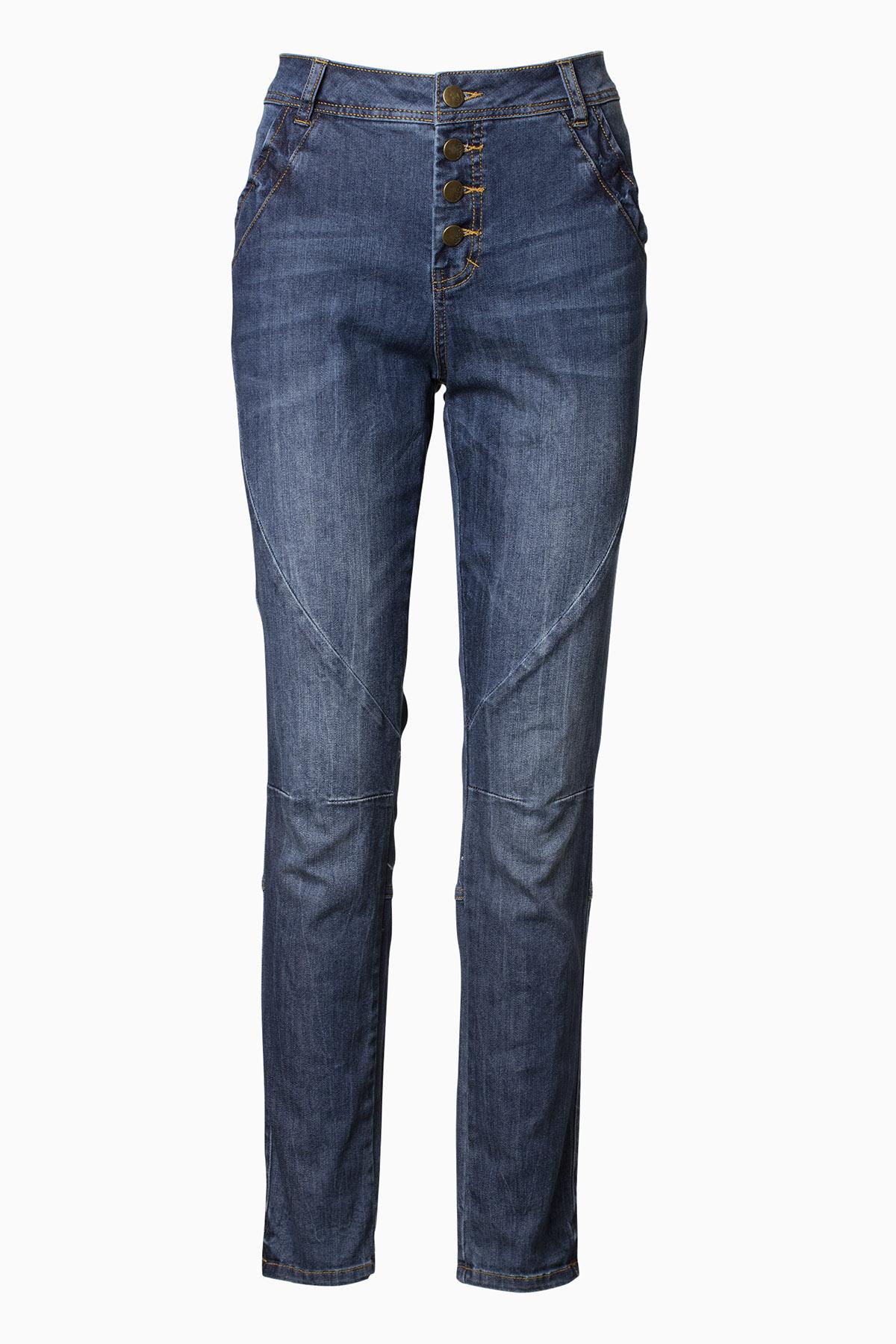 Marineblå Jeans fra Bon'A Parte – Køb Marineblå Jeans fra str. 34-54 her