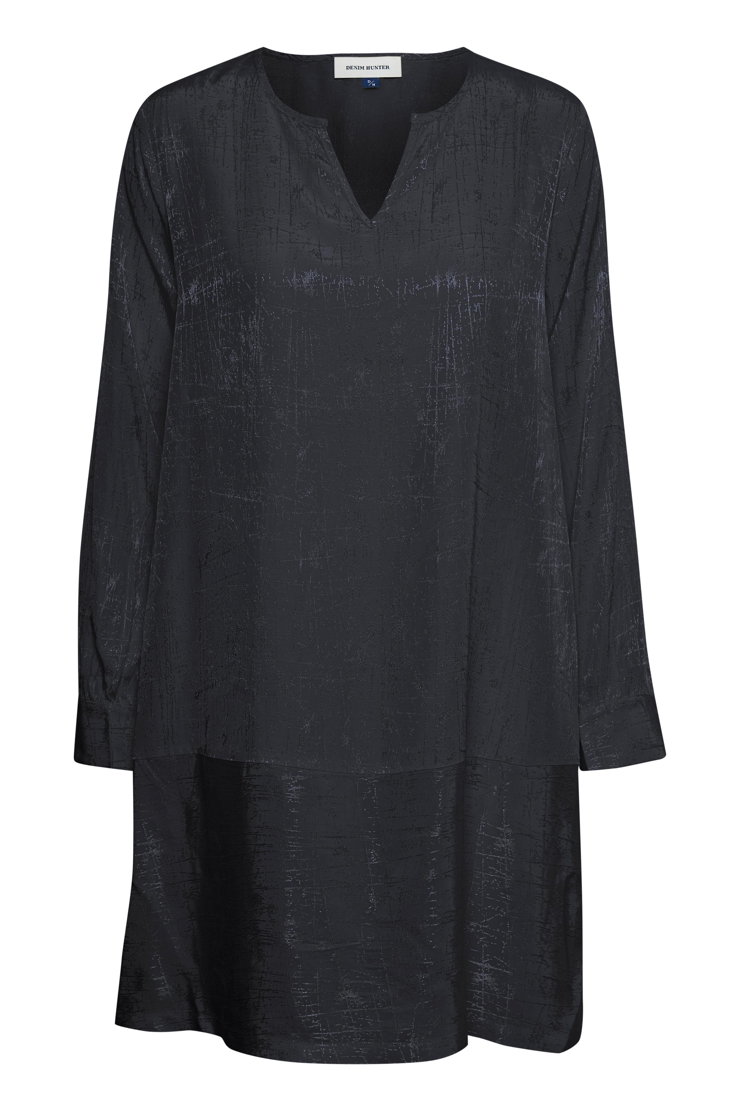 Marineblå Kjole fra Denim Hunter – Køb Marineblå Kjole fra str. 34-46 her