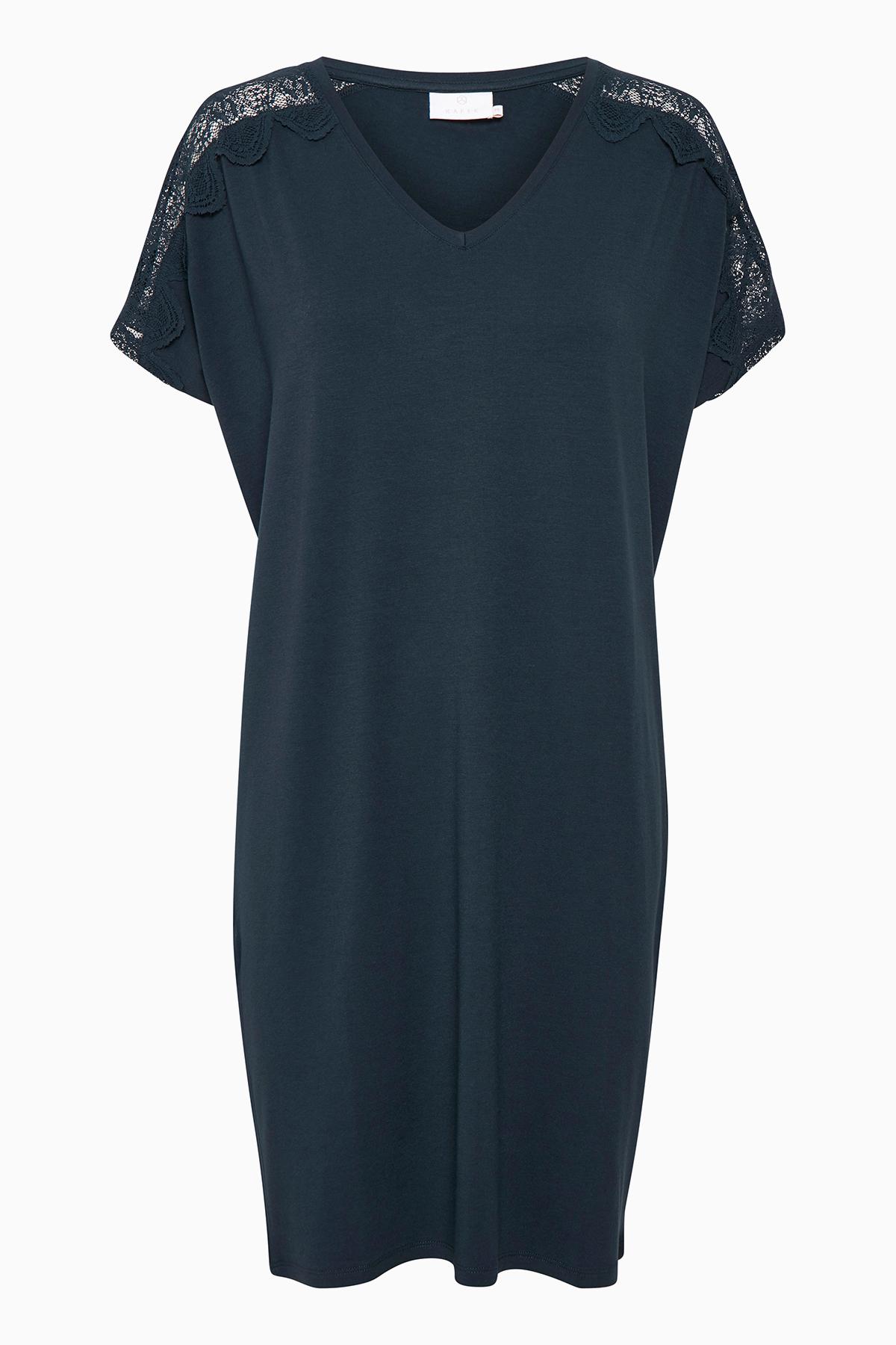 Marineblå Kjole fra Kaffe – Køb Marineblå Kjole fra str. XS-XXL her
