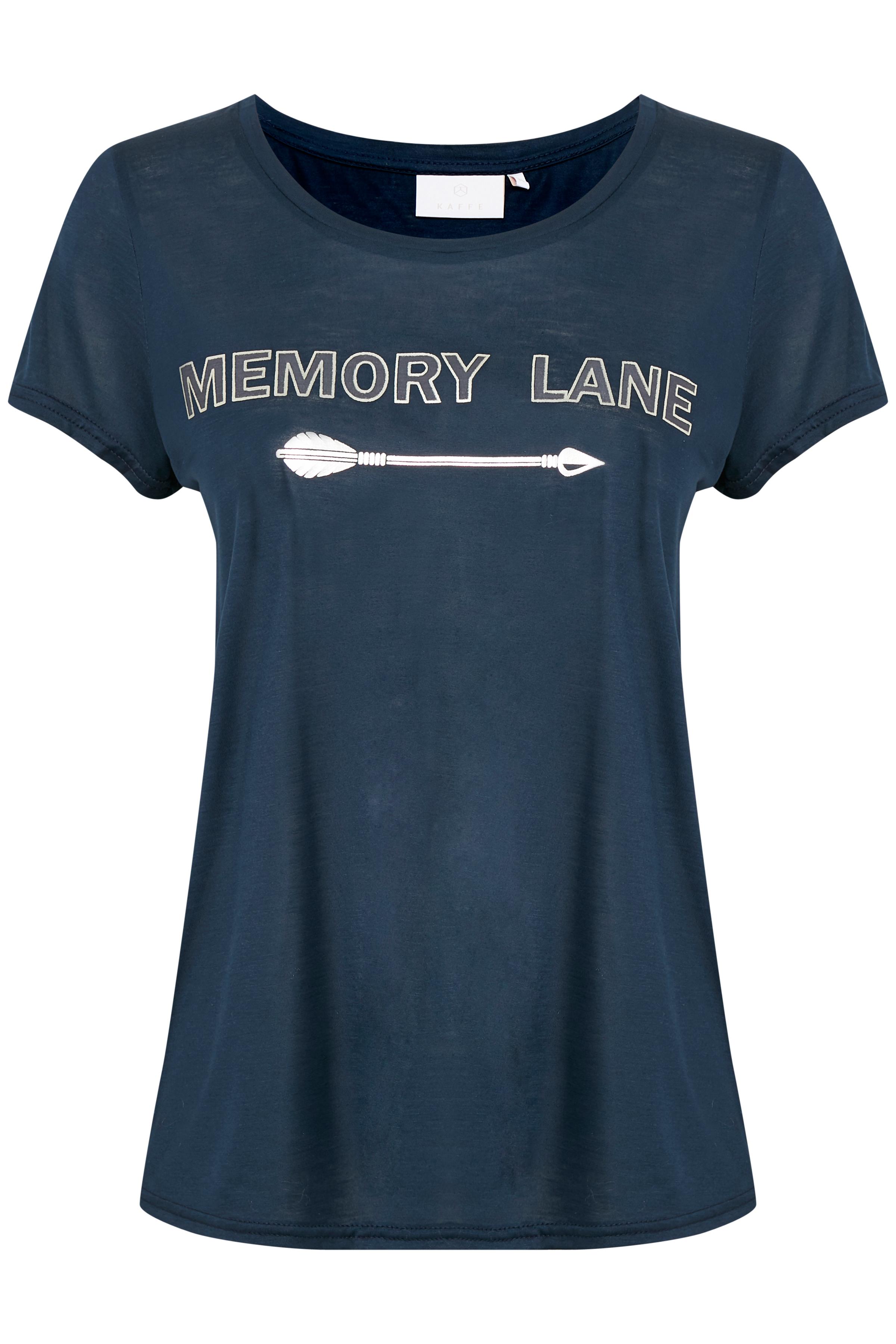 Marineblå Kortærmet T-shirt fra Kaffe – Køb Marineblå Kortærmet T-shirt fra str. L-XXL her
