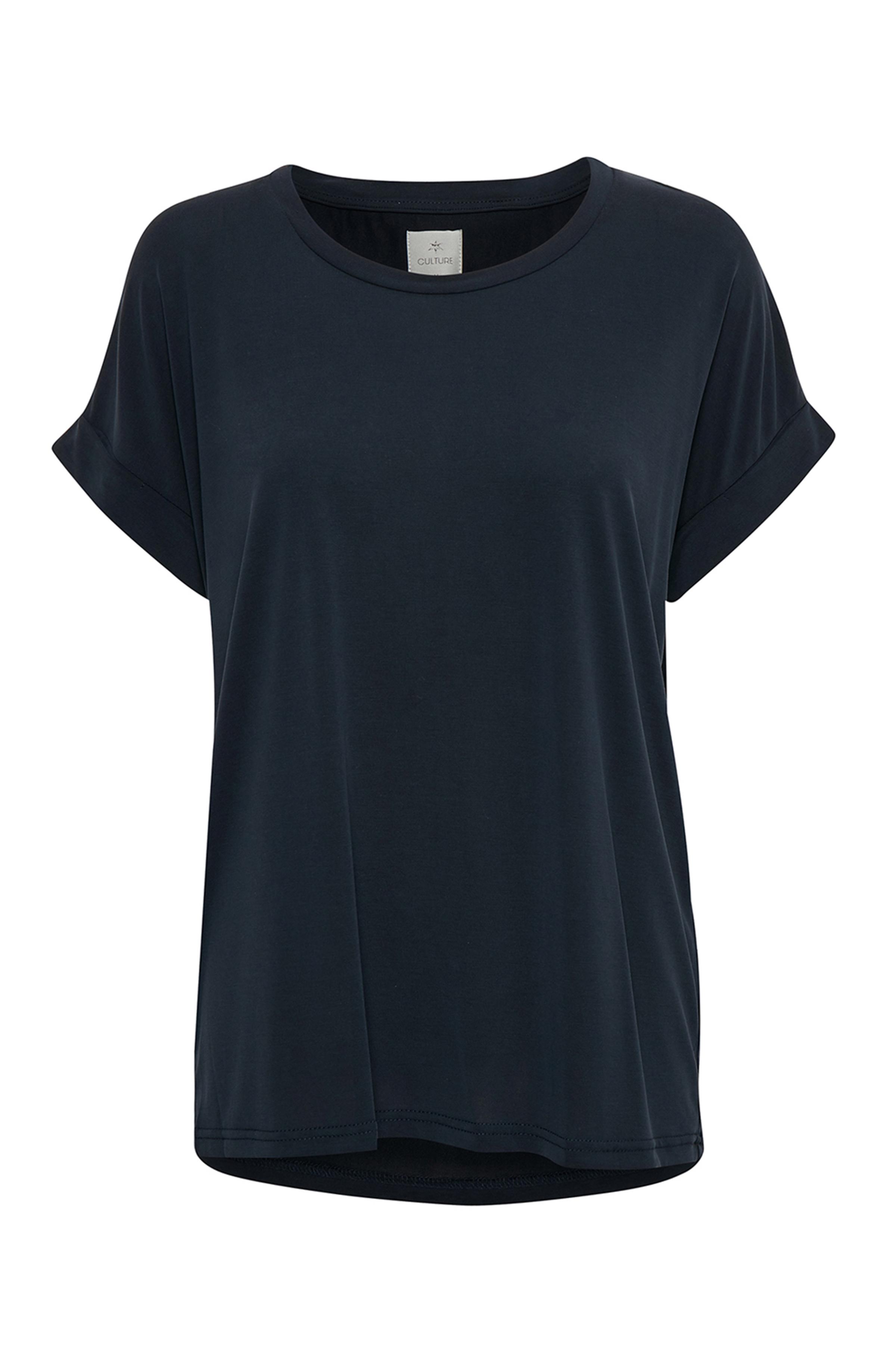 Image of Culture Dame Kortærmet T-shirt - Marineblå