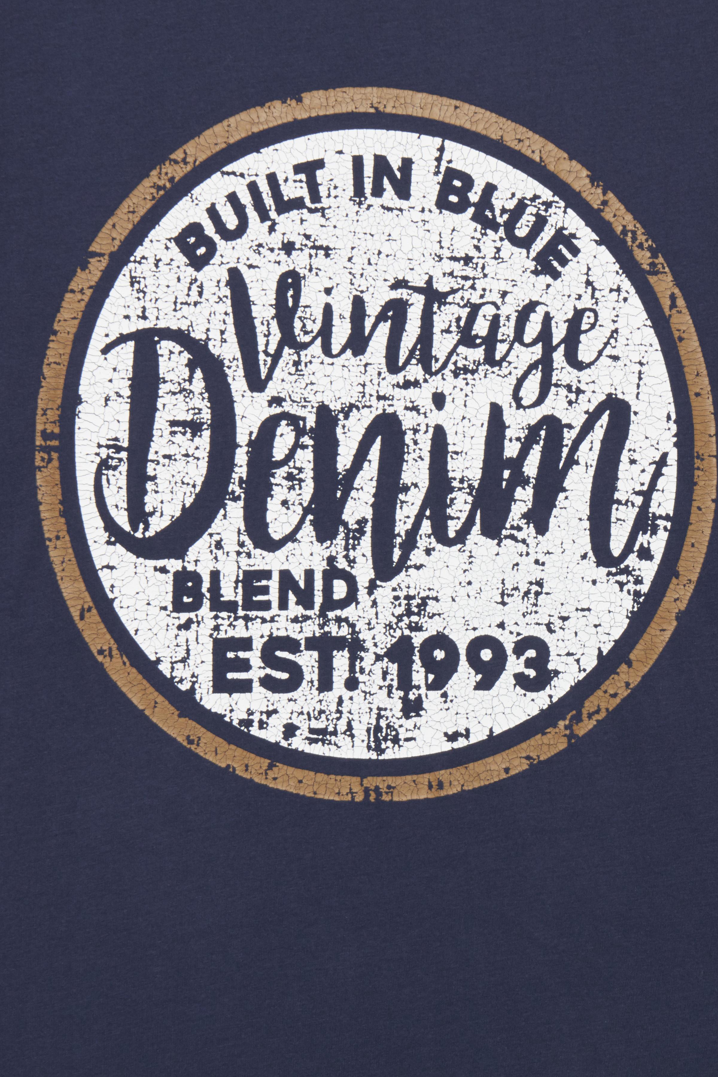 Marineblå Kortærmet T-shirt fra Blend He – Køb Marineblå Kortærmet T-shirt fra str. S-3XL her
