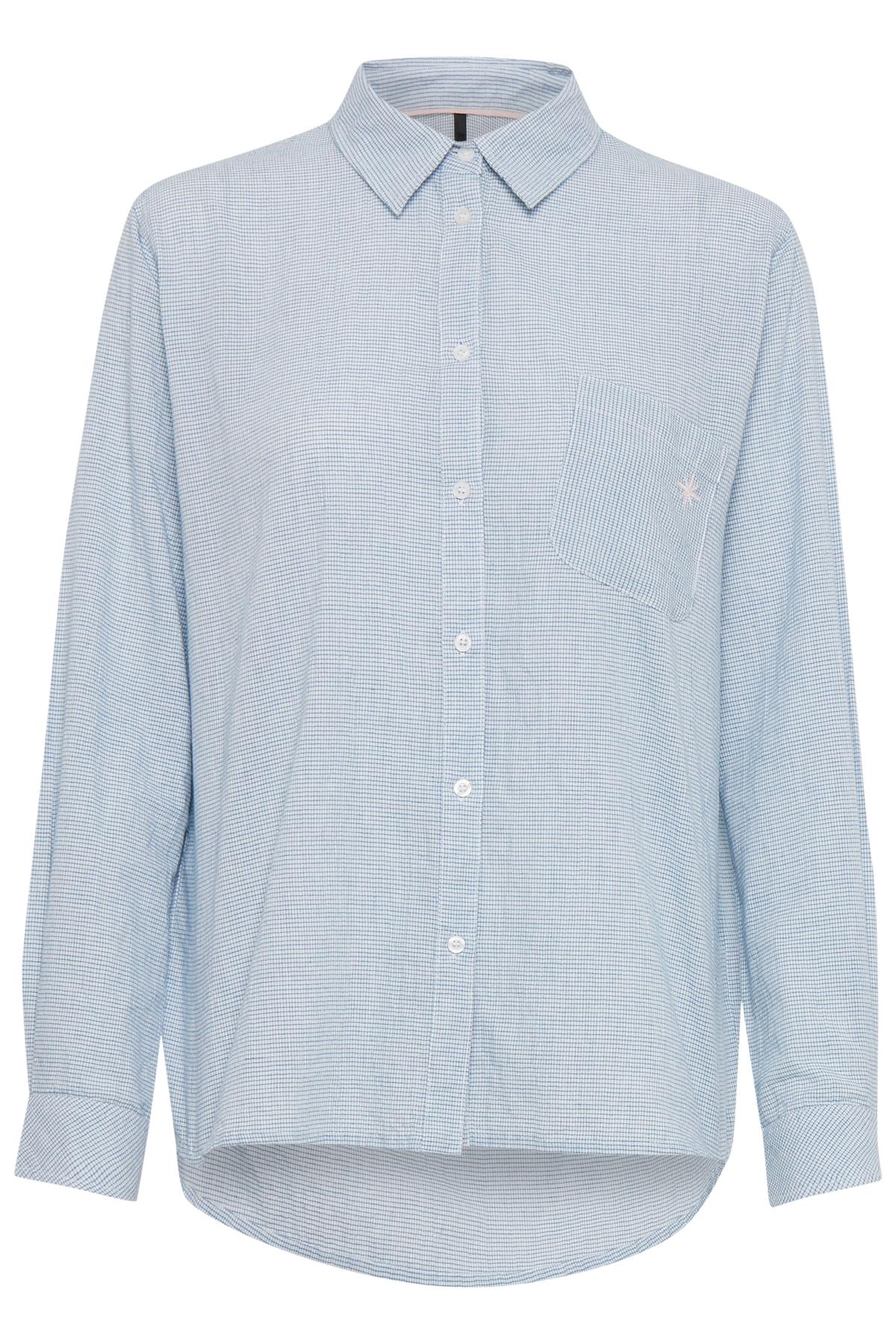 Pulz Jeans Dame Let Julie skjorte  - Marineblå