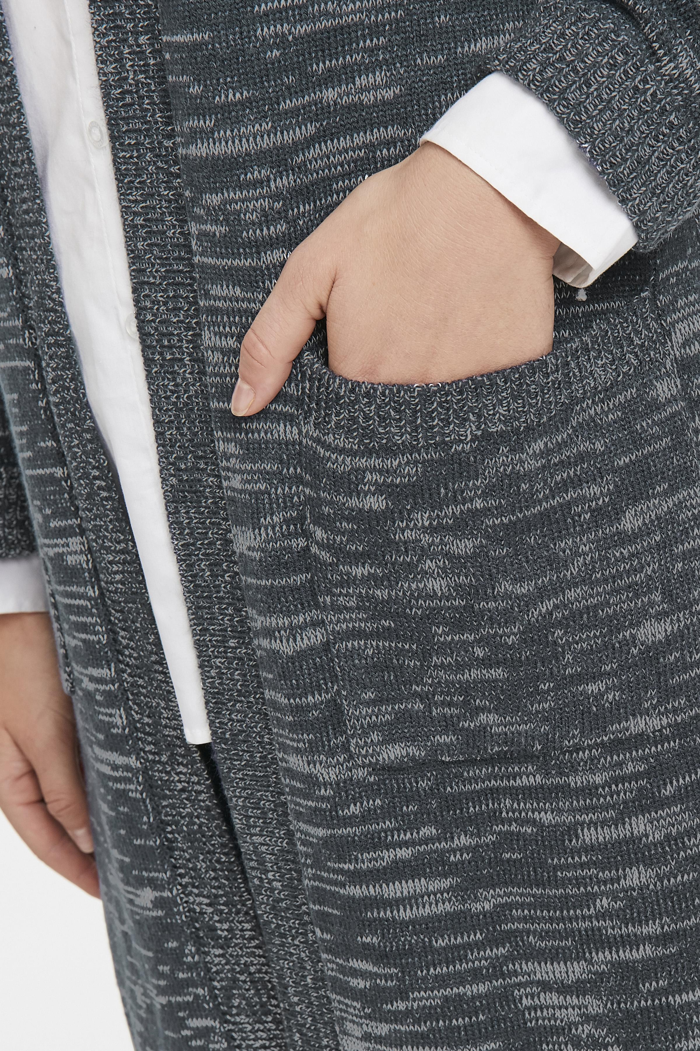 Marineblå/off-white Cardigan fra Bon'A Parte – Køb Marineblå/off-white Cardigan fra str. S-2XL her