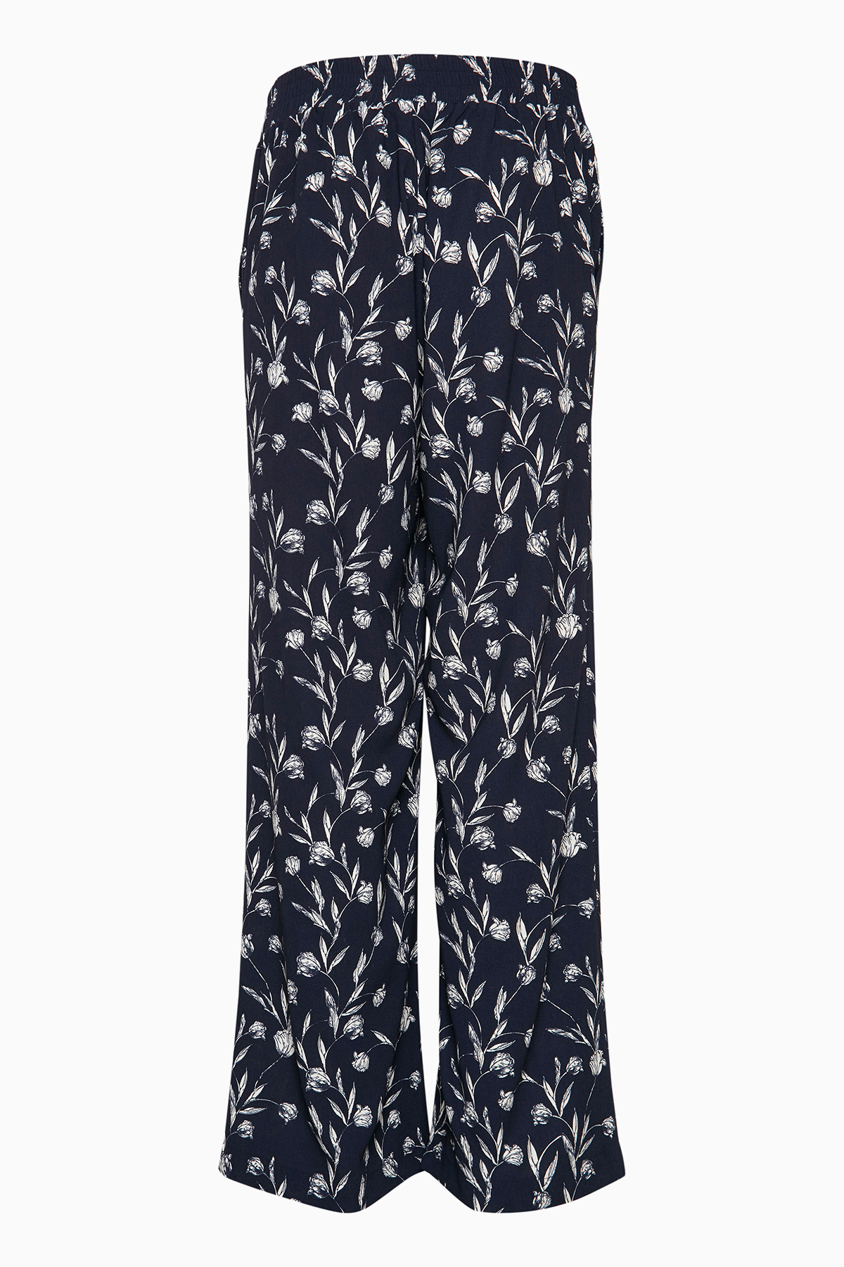 Marineblå/off-white Casual bukser fra Fransa – Køb Marineblå/off-white Casual bukser fra str. 34-46 her