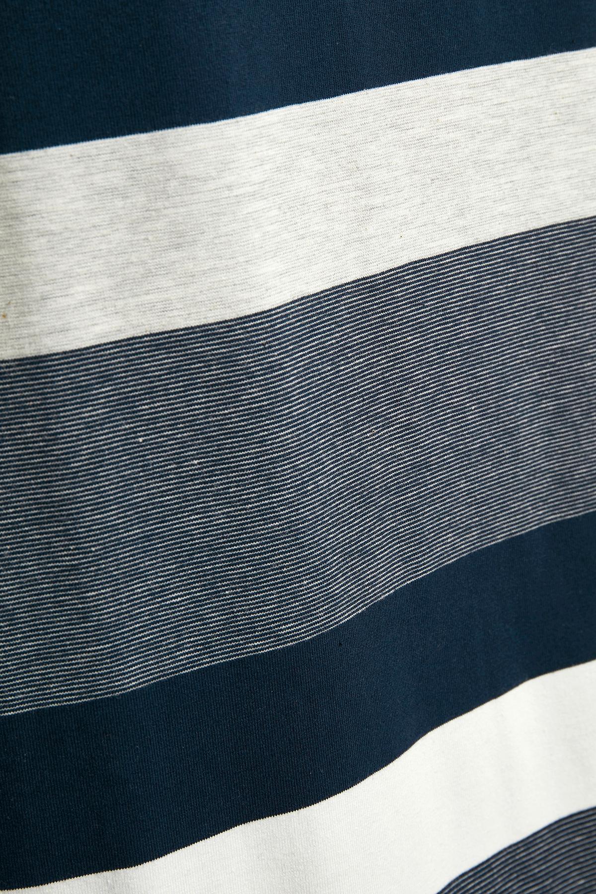 Marineblå/off-white Kjole fra Bon'A Parte – Køb Marineblå/off-white Kjole fra str. S-2XL her
