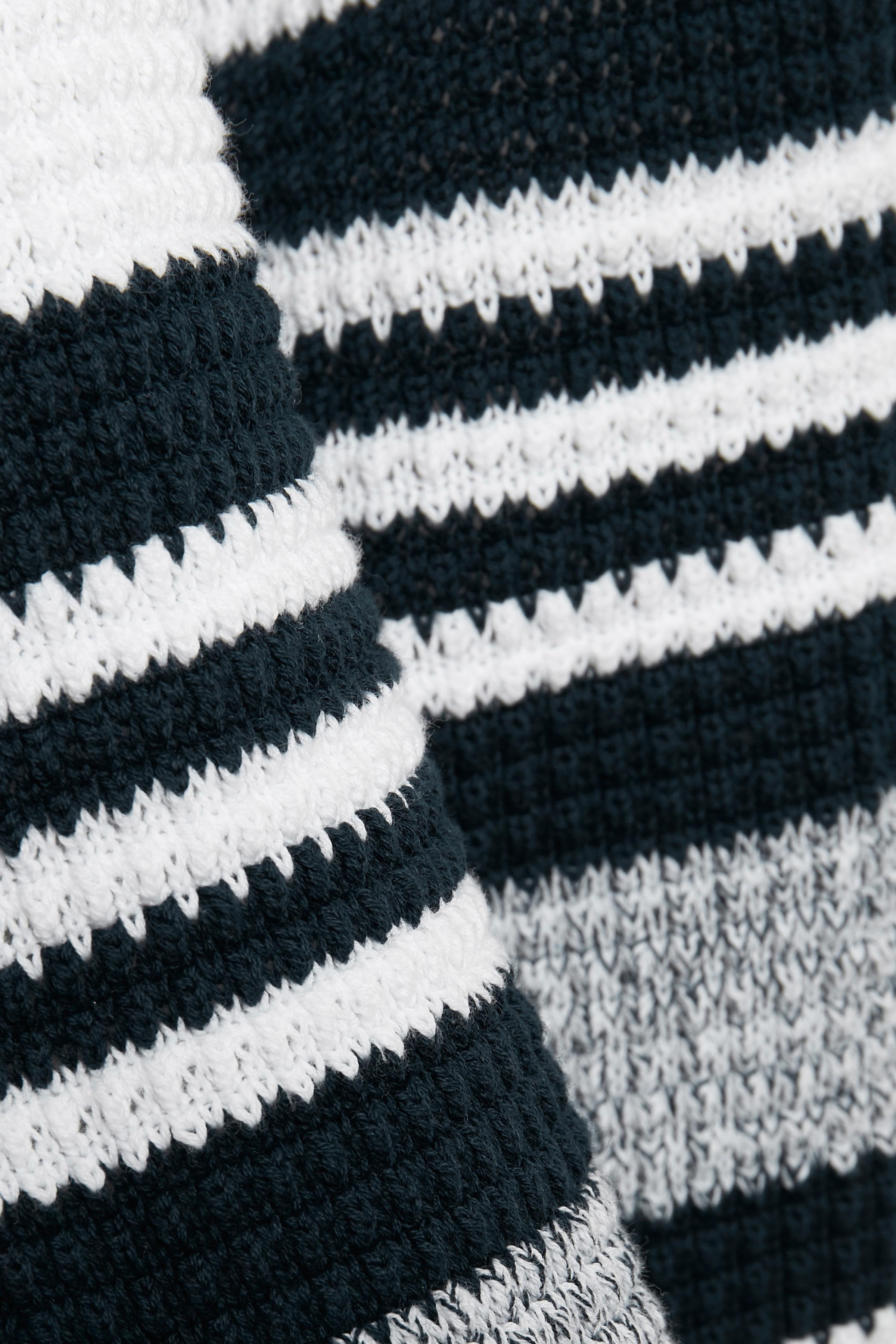 Marineblå/off-white Strikpullover fra Bon'A Parte – Køb Marineblå/off-white Strikpullover fra str. S-2XL her