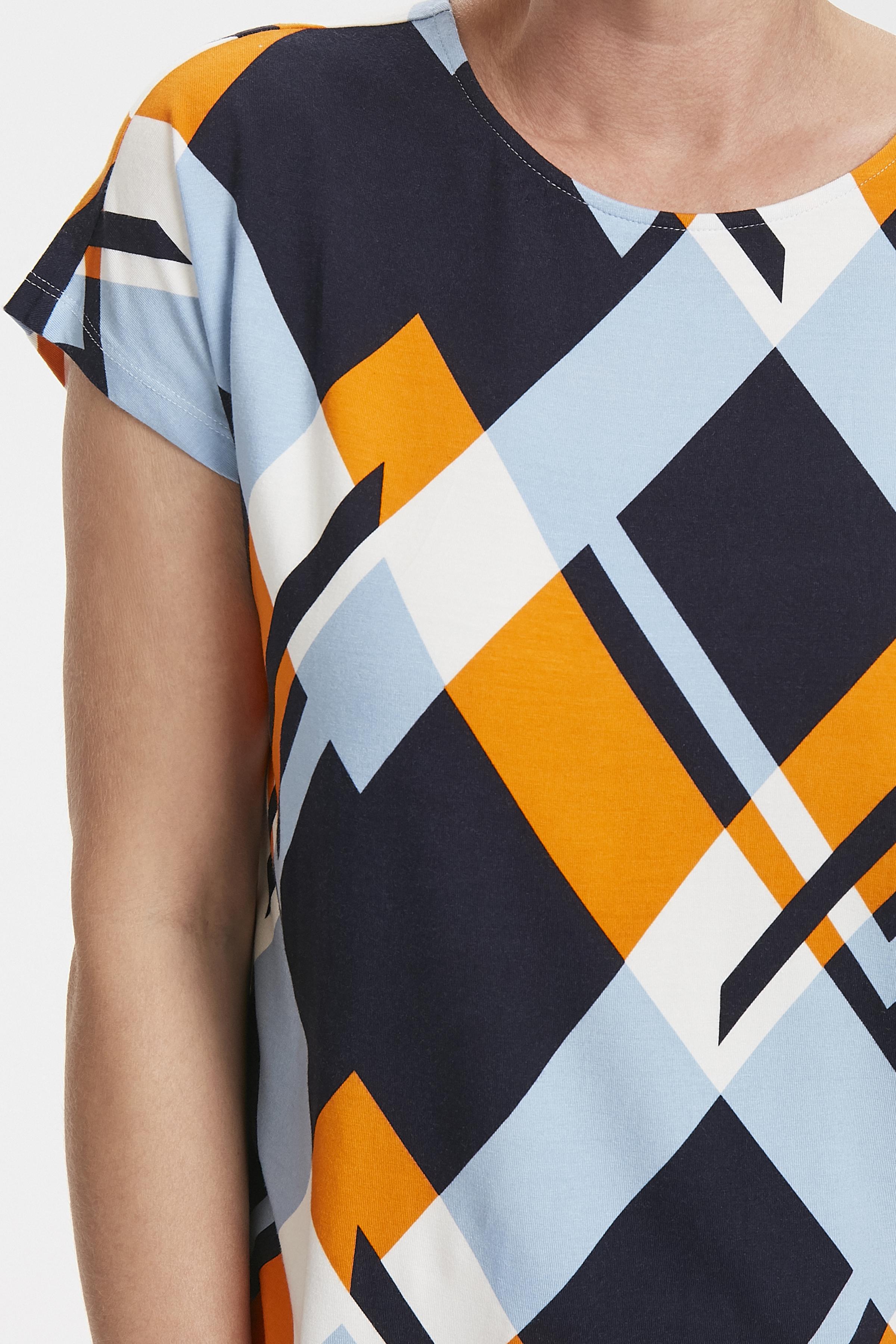 Marineblå/orange Kortærmet T-shirt fra Fransa – Køb Marineblå/orange Kortærmet T-shirt fra str. XS-XXL her