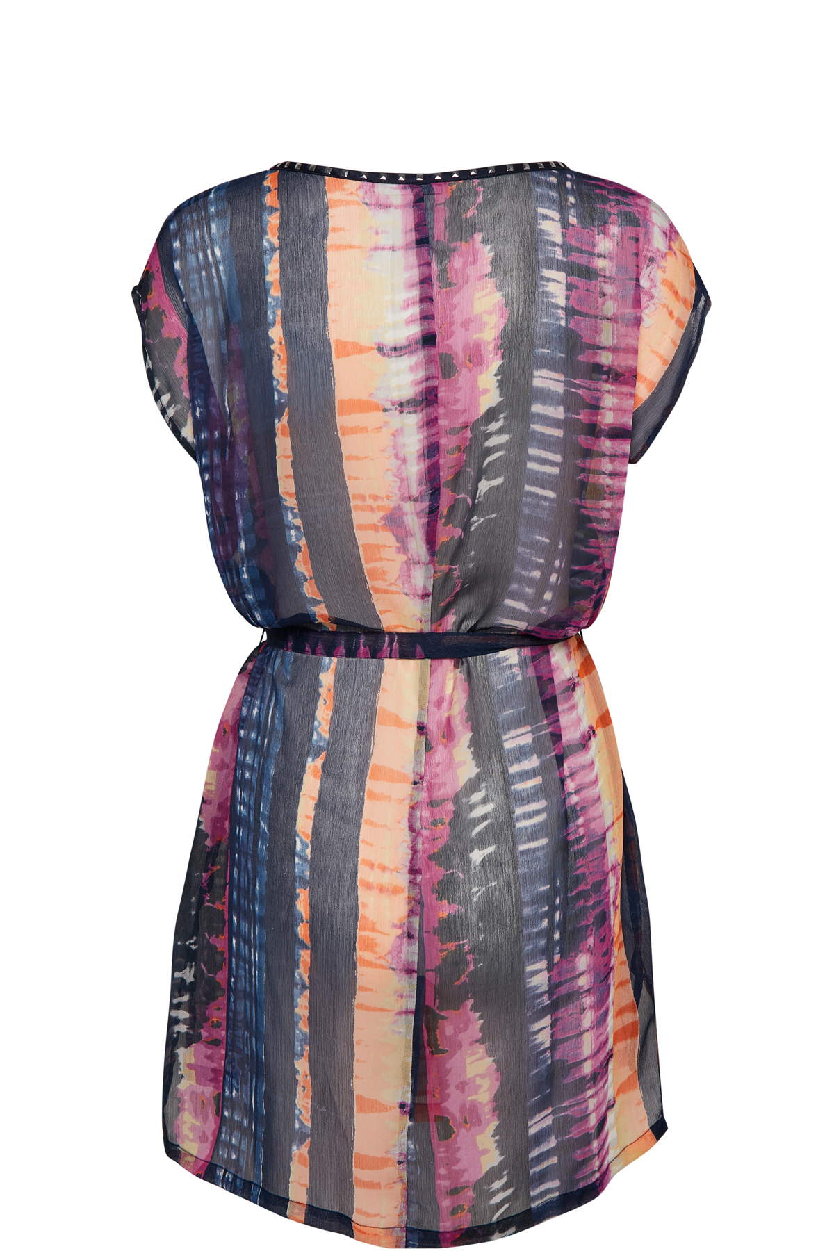 Marineblå/pink Kjole fra Bon'A Parte – Køb Marineblå/pink Kjole fra str. S-2XL her