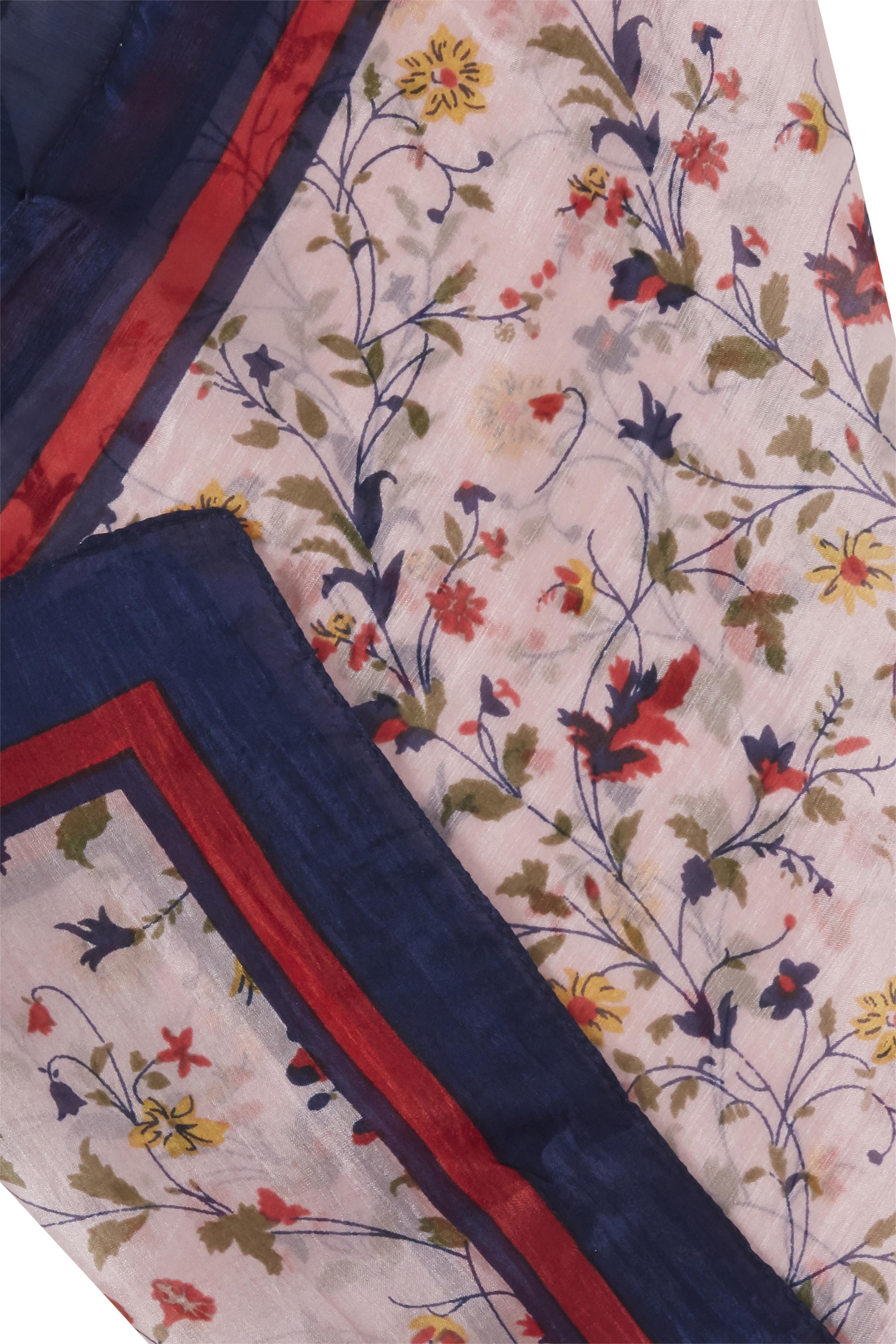 Marineblå/rosa Tørklæde fra Fransa – Køb Marineblå/rosa Tørklæde fra str. ONE her