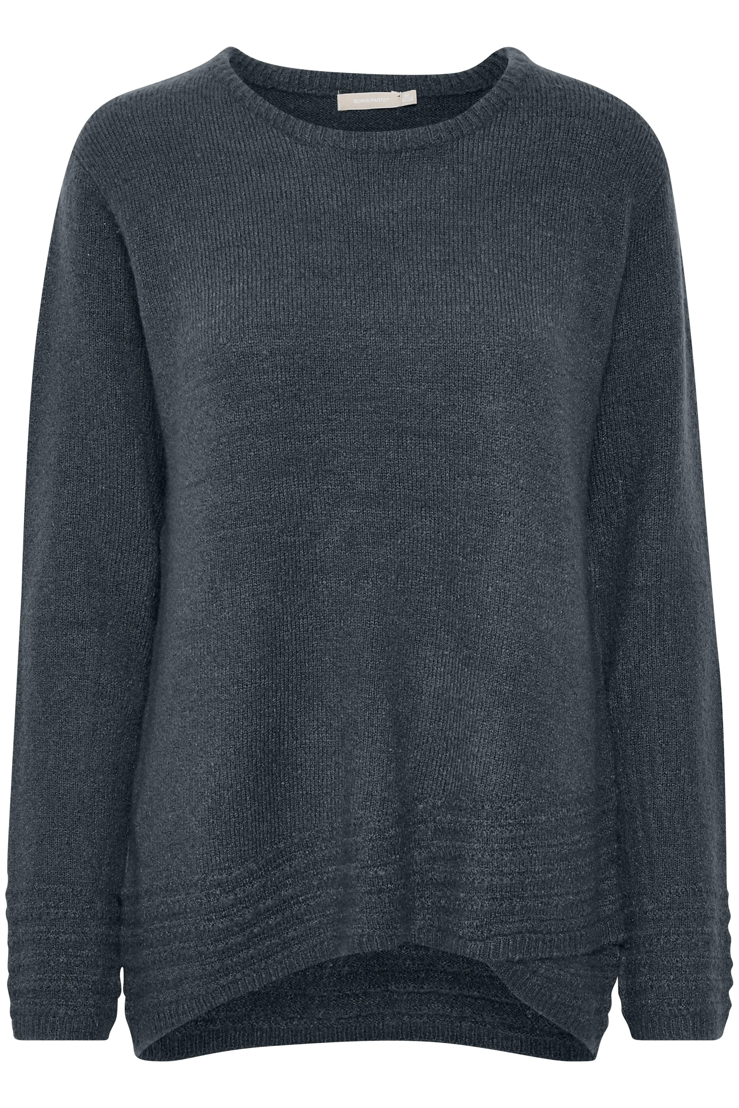Marineblå Strikpullover fra Bon'A Parte – Køb Marineblå Strikpullover fra str. S-2XL her