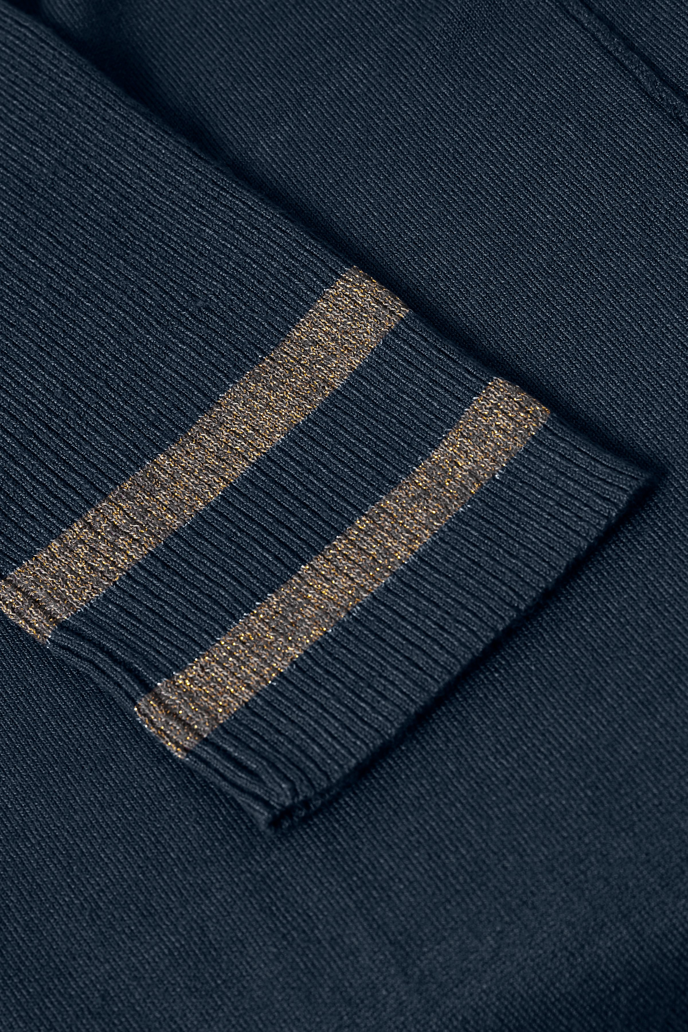 Marineblå Striktunika fra Bon'A Parte – Køb Marineblå Striktunika fra str. S-2XL her