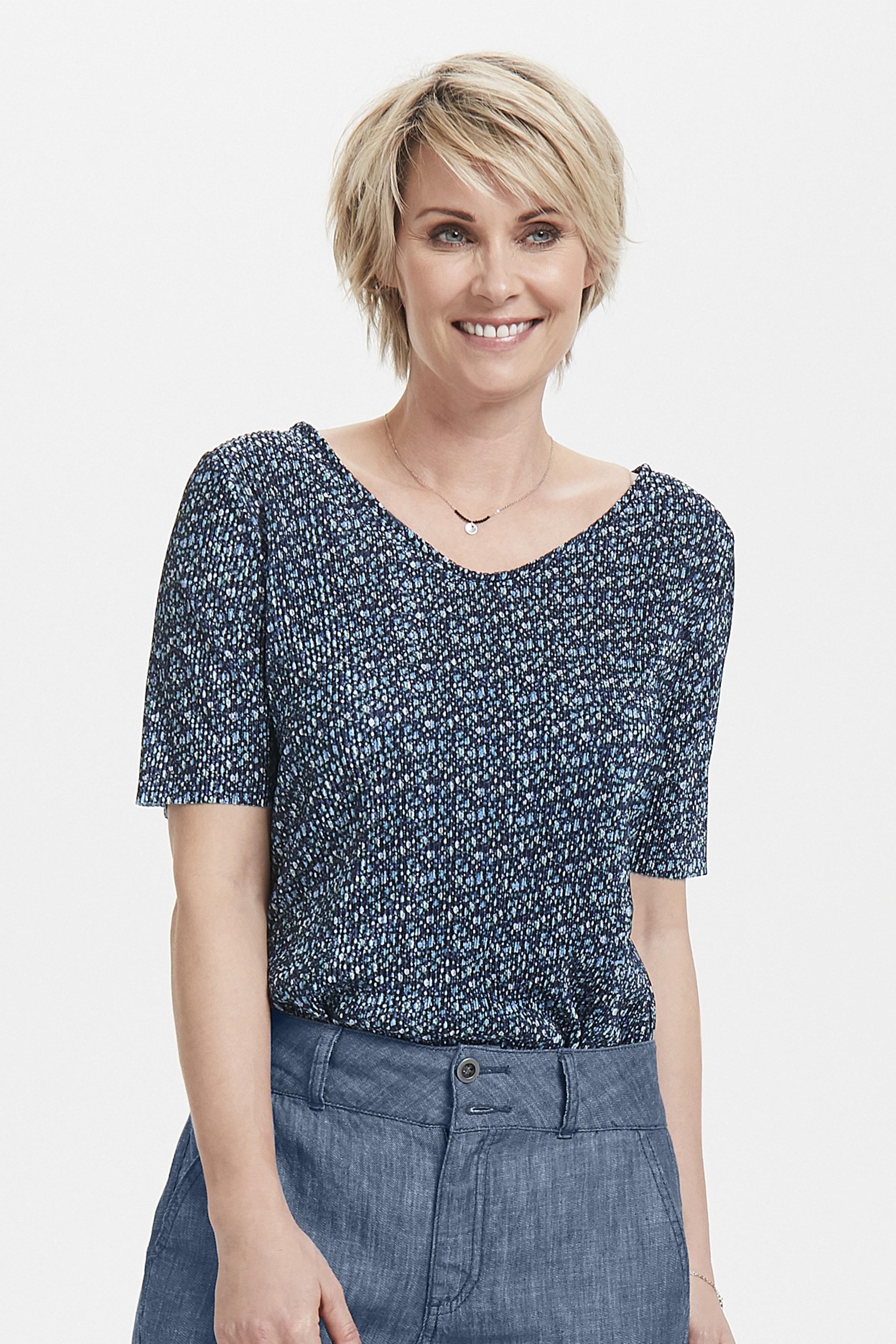 Marineblau/blau Kurzarm-Bluse von Fransa – Shoppen Sie Marineblau/blau Kurzarm-Bluse ab Gr. XS-XXL hier