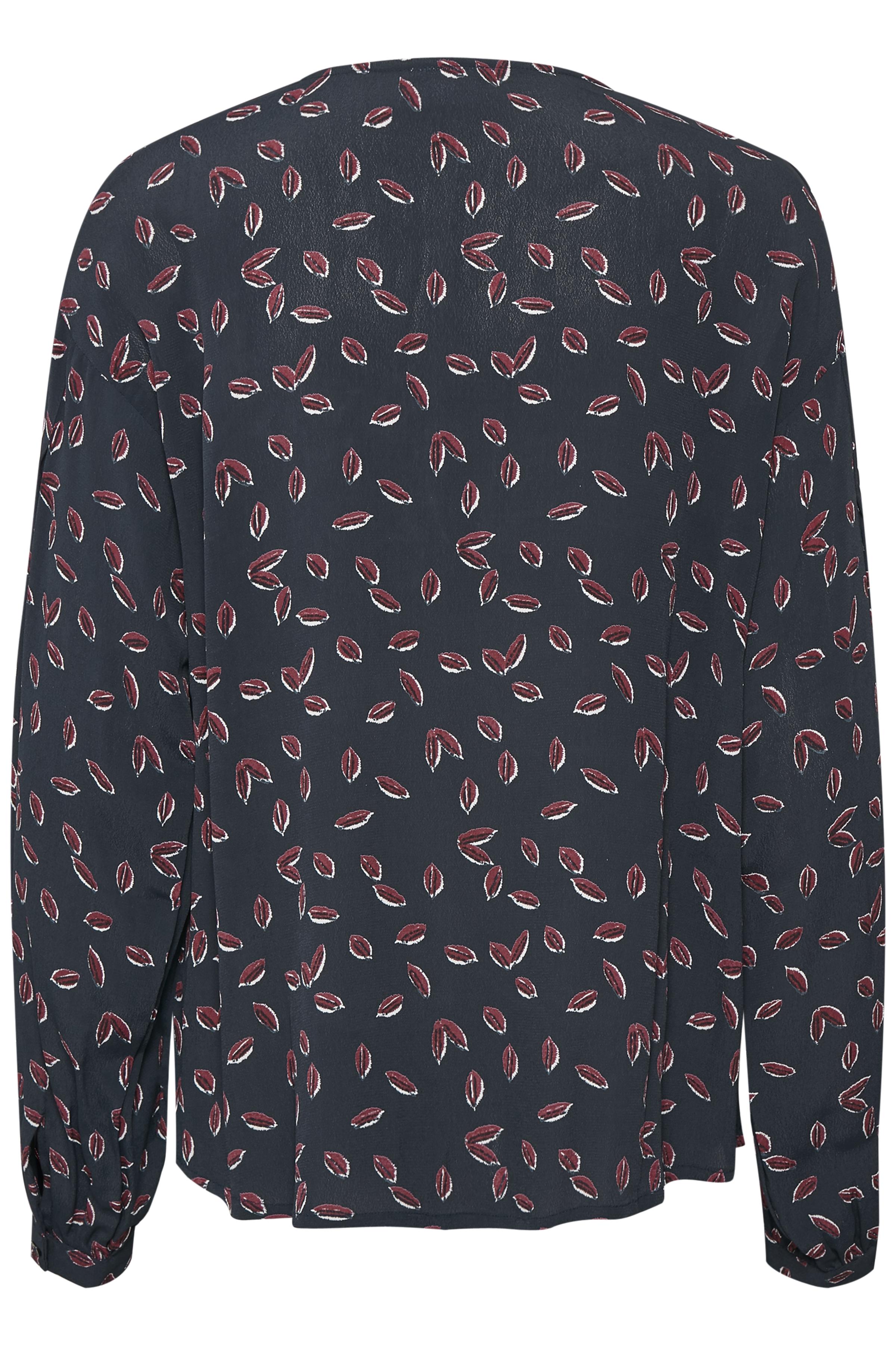 Marineblau/bordeaux Langarm-Bluse von Kaffe – Shoppen Sie Marineblau/bordeaux Langarm-Bluse ab Gr. 34-46 hier