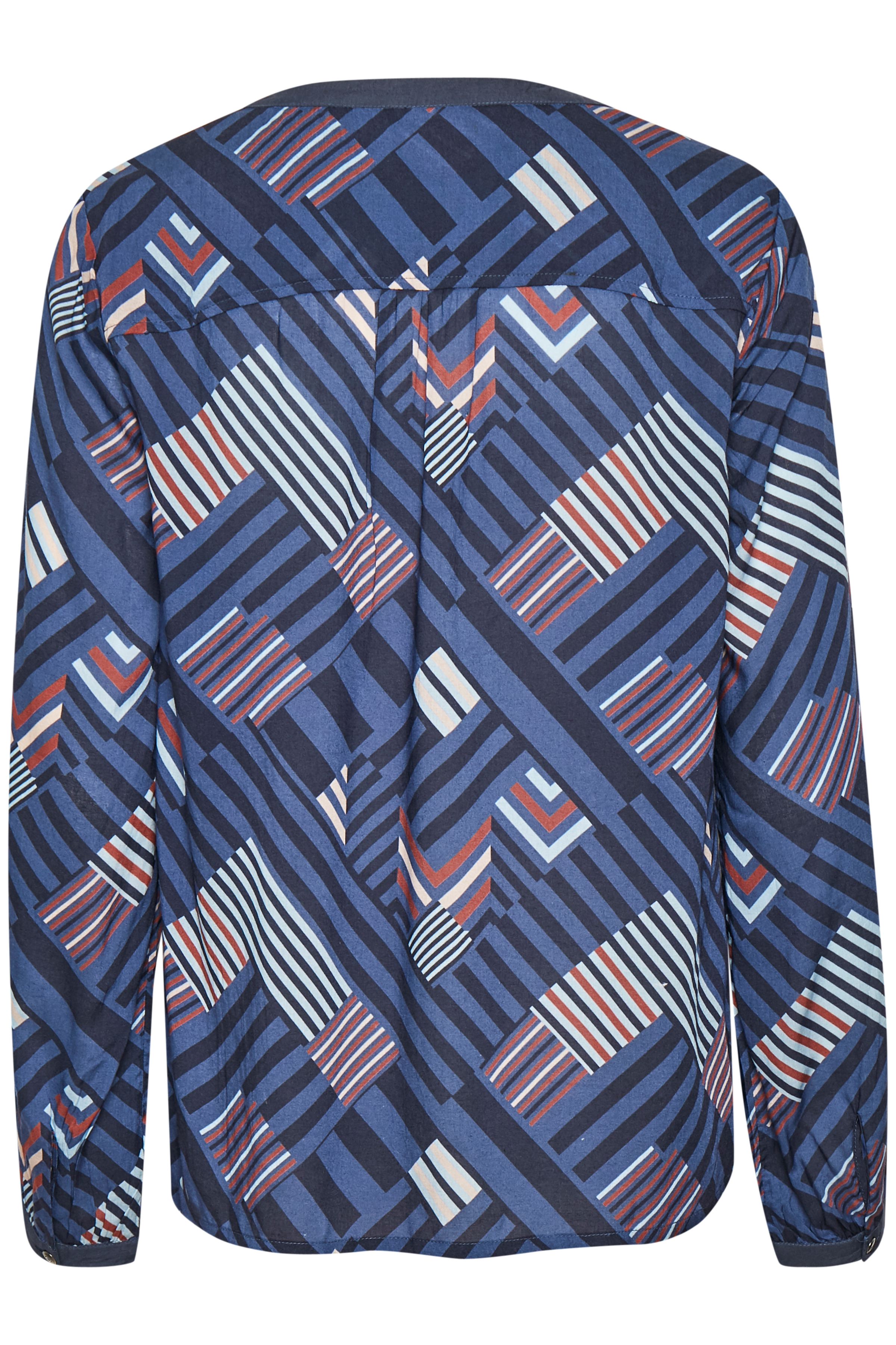 Marineblau/braun Langarm-Bluse von Cream – Shoppen Sie Marineblau/braun Langarm-Bluse ab Gr. 34-46 hier