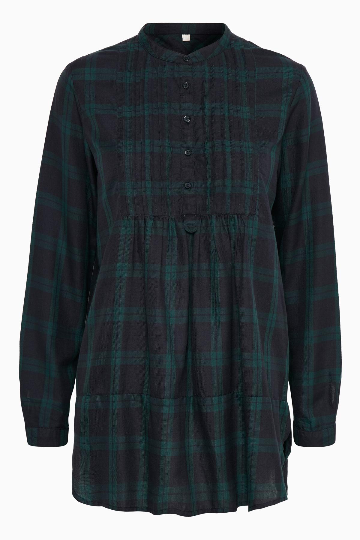 Marineblau Langarm-Bluse von Bon'A Parte – Shoppen Sie Marineblau Langarm-Bluse ab Gr. S-3XL hier