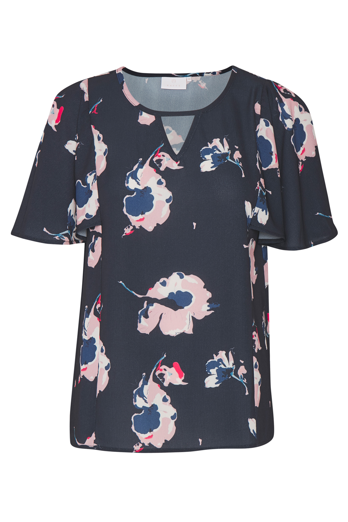 Marineblau/rosa Kurzarm-Bluse von Kaffe – Shoppen SieMarineblau/rosa Kurzarm-Bluse ab Gr. 34-46 hier
