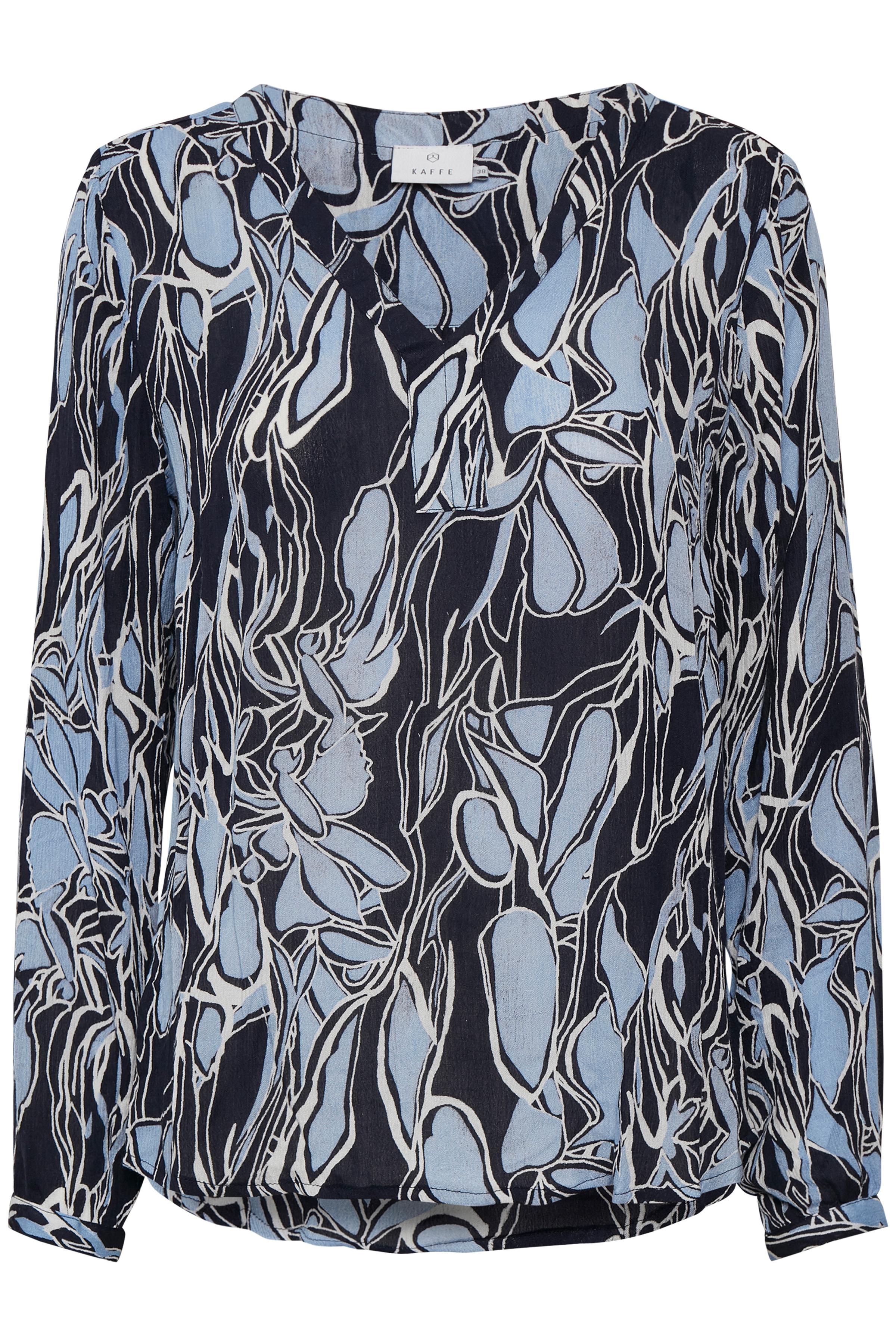 Marineblau/staubblau Langarm-Bluse  von Kaffe – Shoppen SieMarineblau/staubblau Langarm-Bluse  ab Gr. 34-46 hier