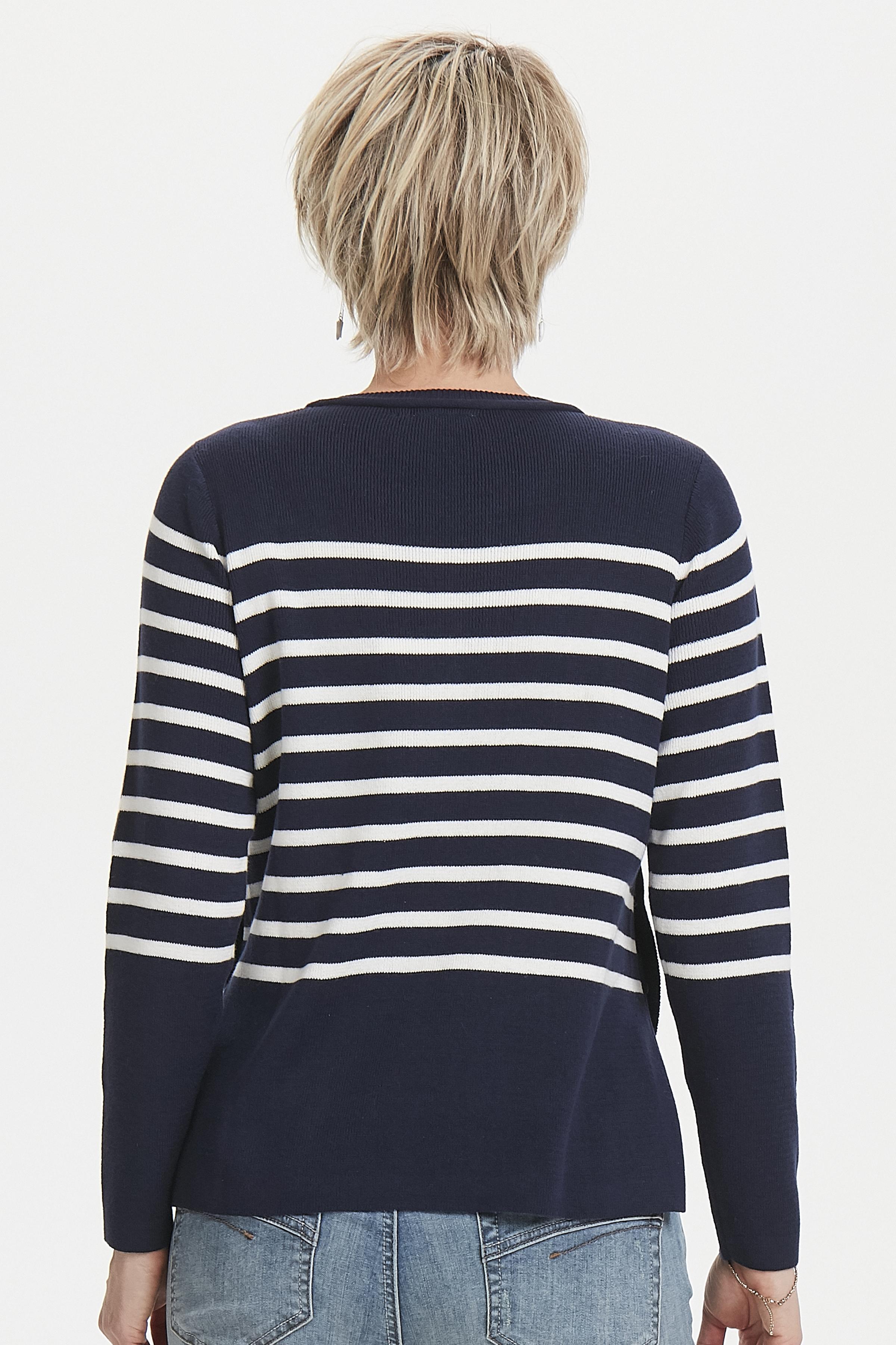 Marineblau/weiß Strickpullover von Fransa – Shoppen Sie Marineblau/weiß Strickpullover ab Gr. XS-XXL hier
