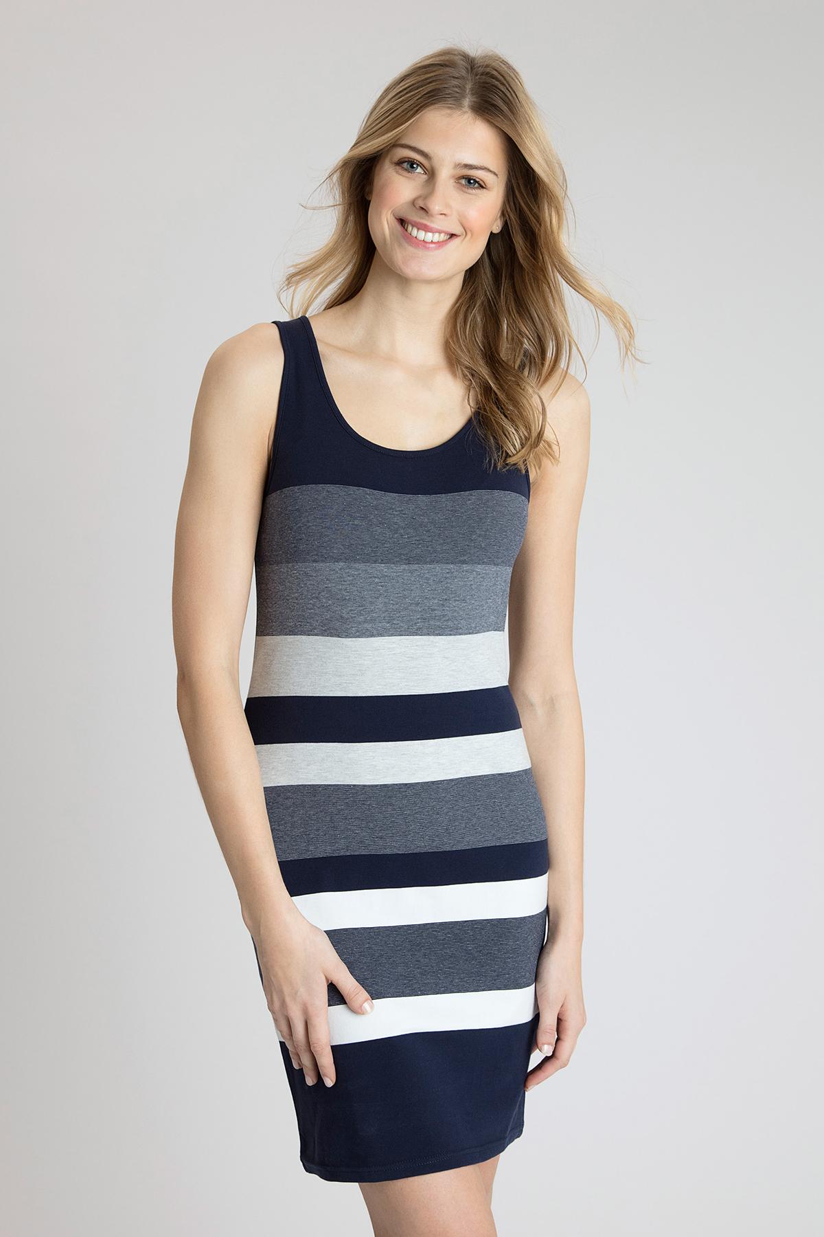 Marineblau/wollweiß Kleid von Bon'A Parte – Shoppen Sie Marineblau/wollweiß Kleid ab Gr. S-2XL hier