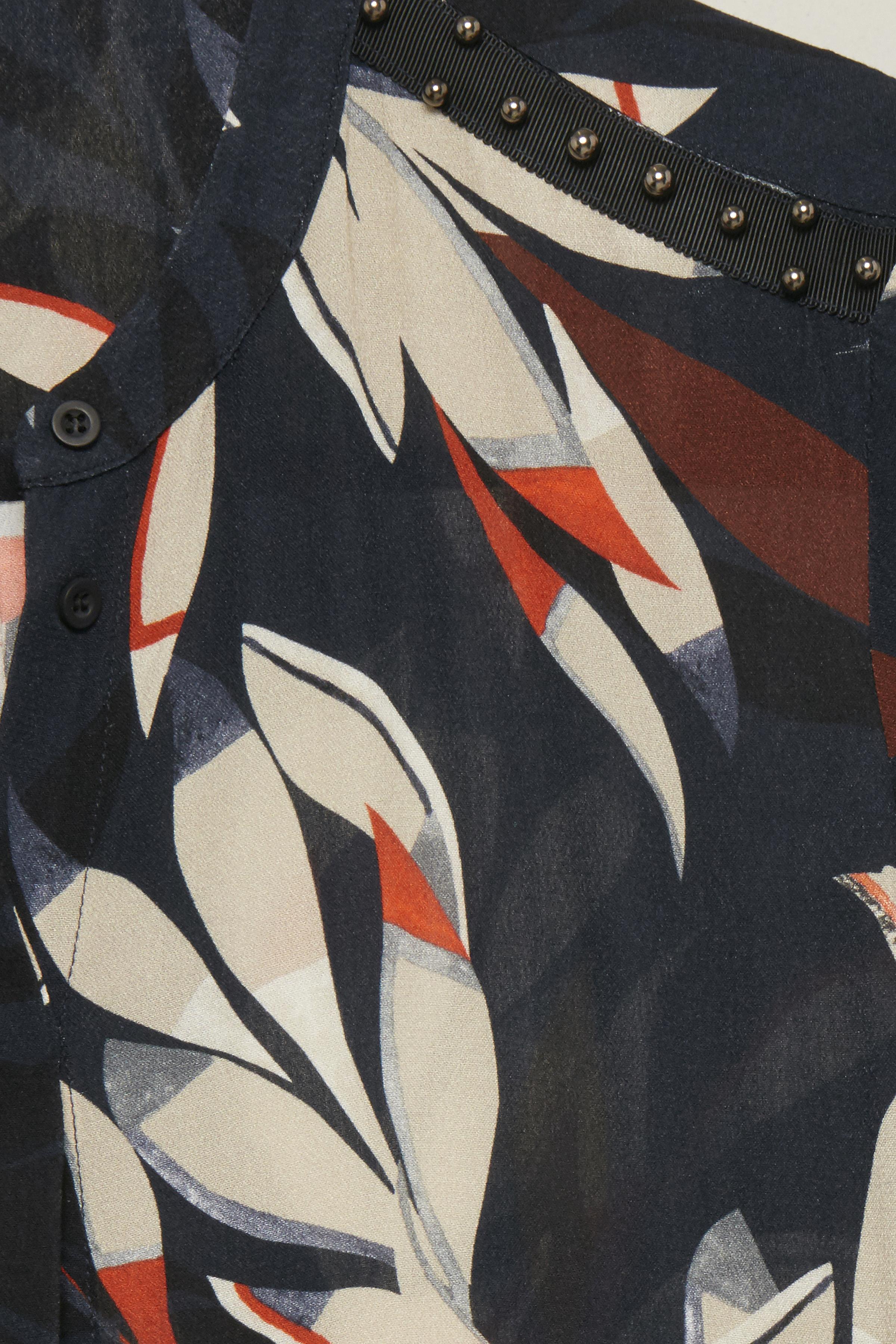 Marineblau/wollweiß Langarm-Bluse von Pulz Jeans – Shoppen Sie Marineblau/wollweiß Langarm-Bluse ab Gr. XS-XXL hier