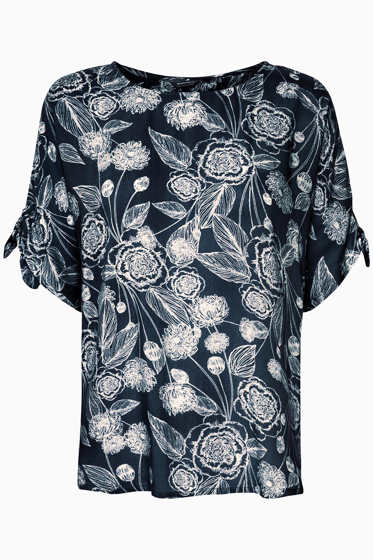 Marineblau/wollweiss Kurzarm-Bluse von Bon'A Parte – Shoppen SieMarineblau/wollweiss Kurzarm-Bluse ab Gr. S-2XL hier