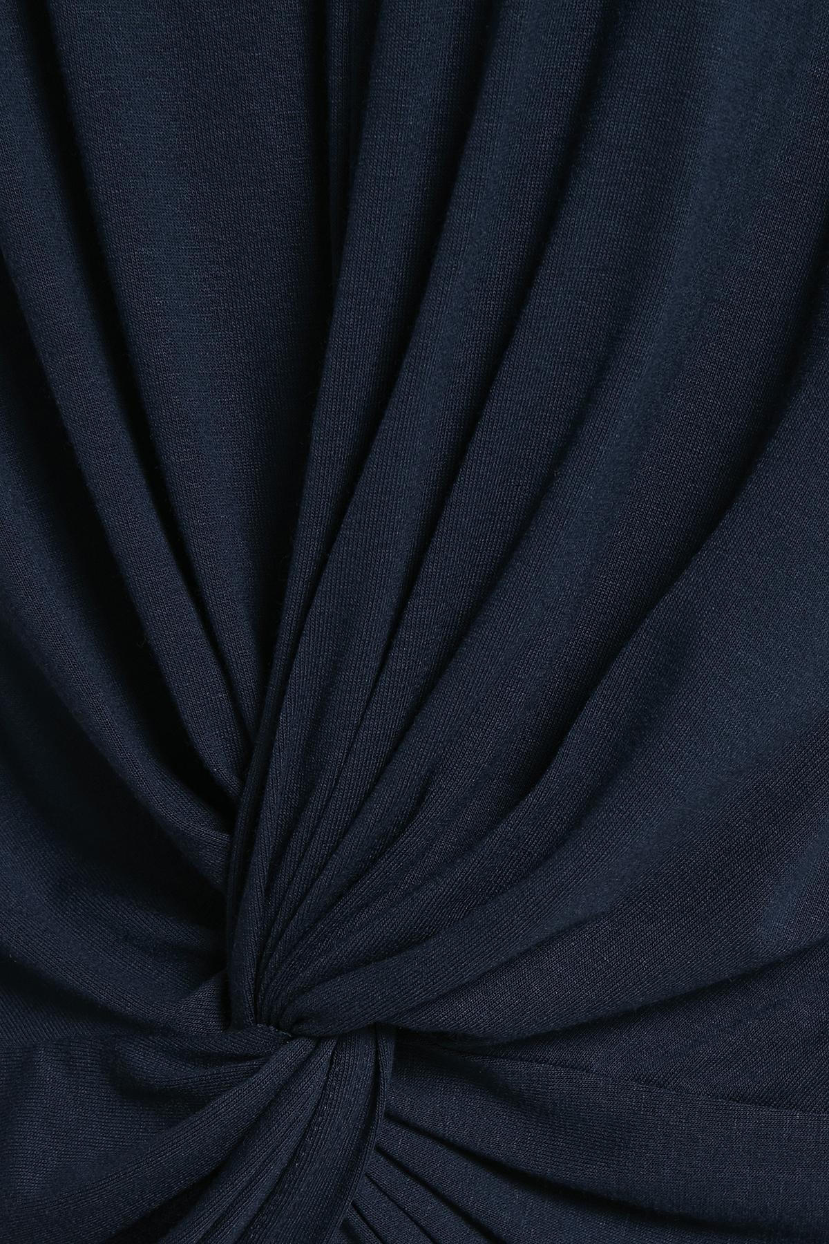 Marineblauw Blouse met korte mouwen van Bon'A Parte – Door Marineblauw Blouse met korte mouwen van maat. S-2XL hier