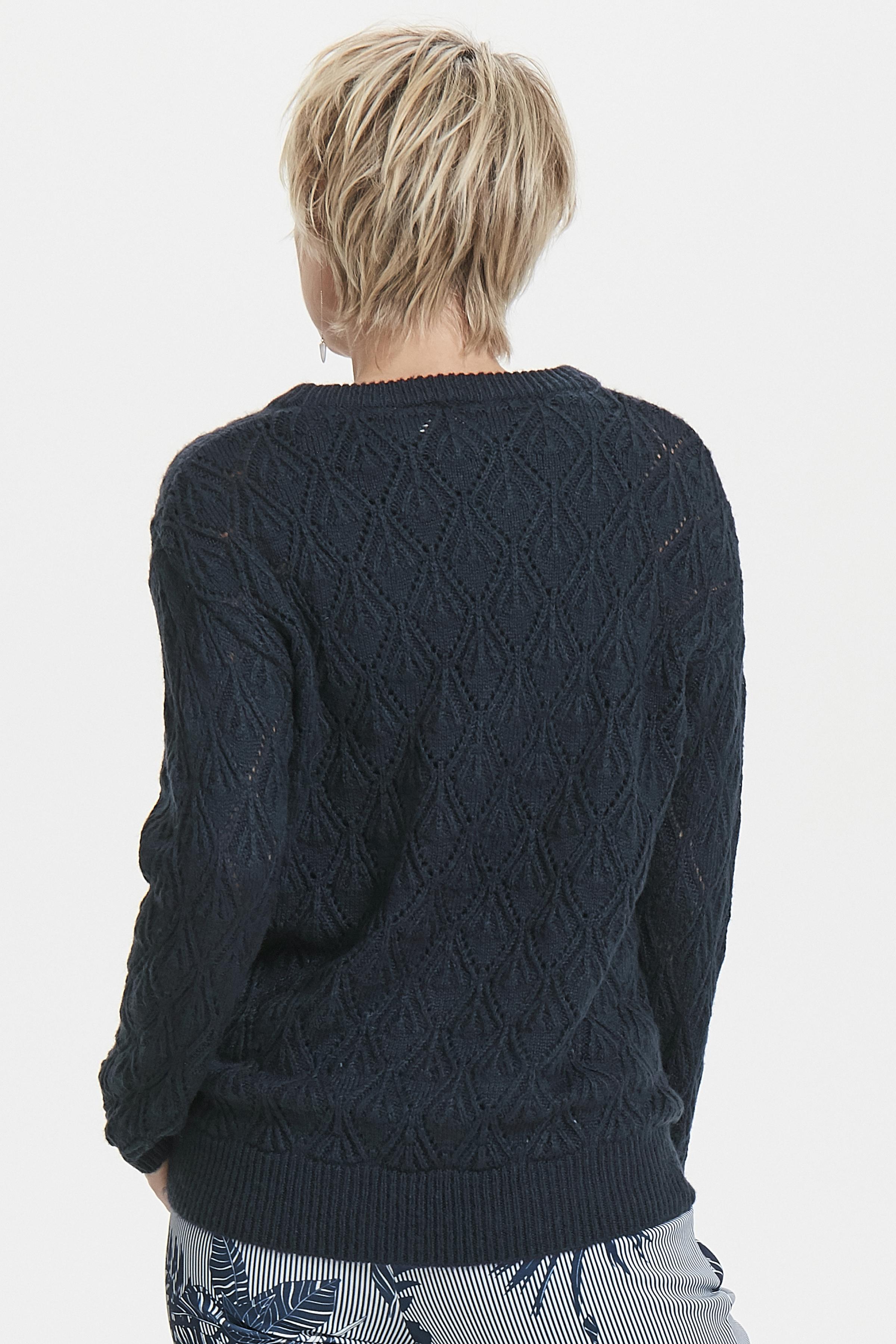 Marineblauw Gebreide trui van Kaffe – Door Marineblauw Gebreide trui van maat. XS-XXL hier