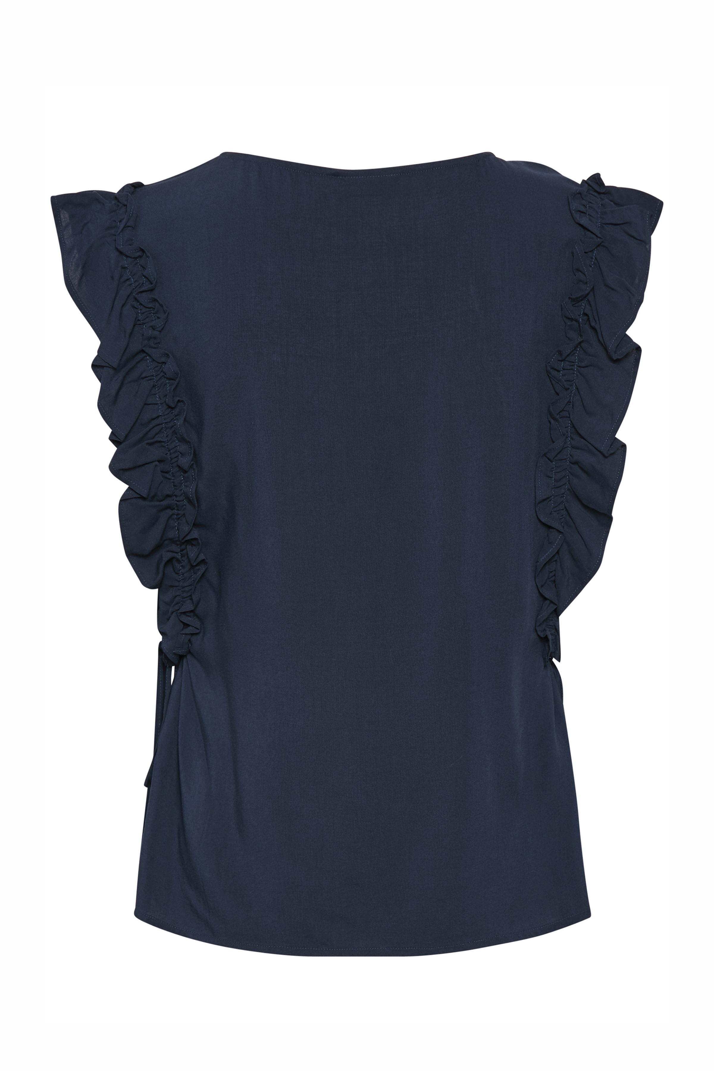 Marineblauw Korte mouwen shirt  van Fransa – Door Marineblauw Korte mouwen shirt  van maat. XS-XXL hier