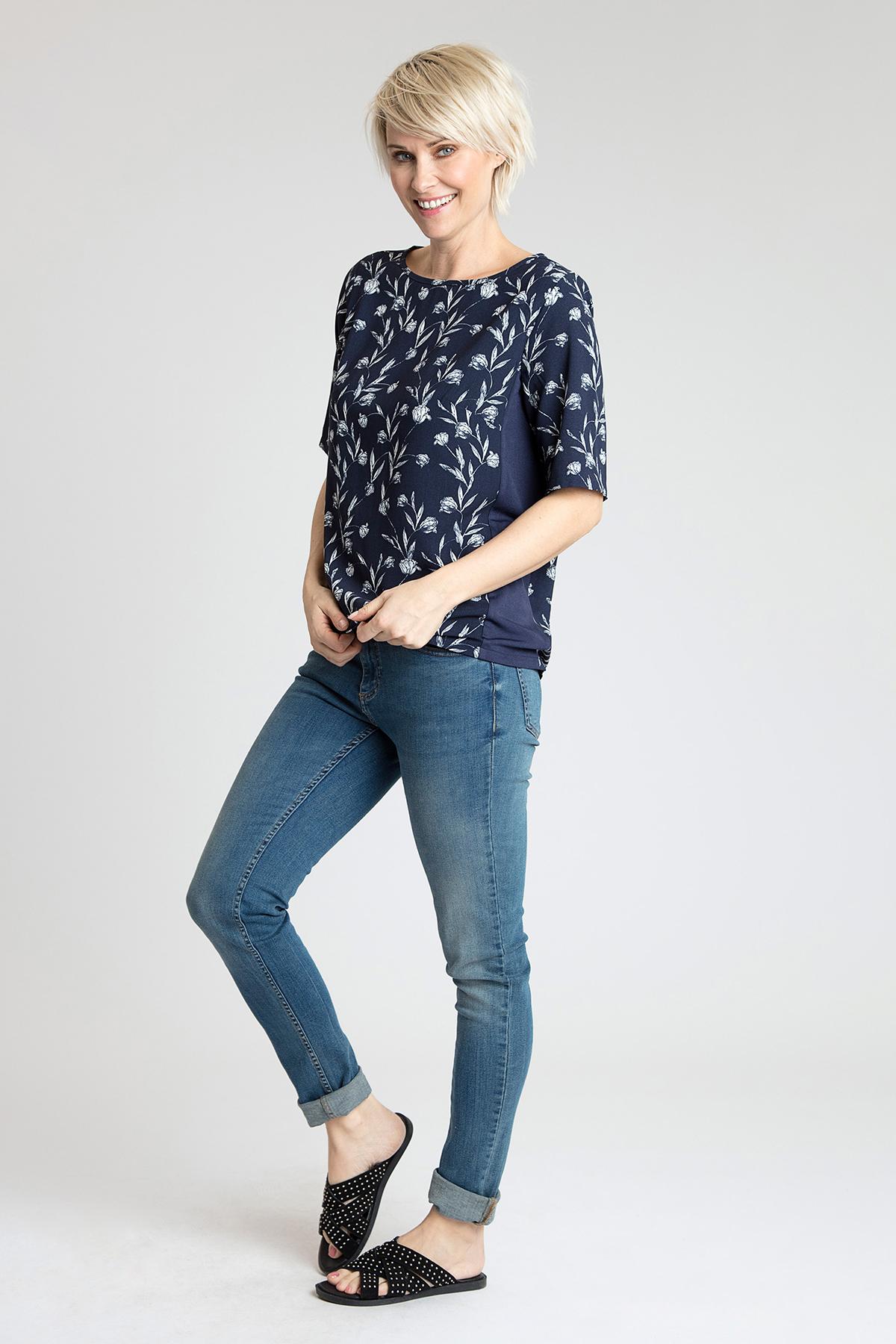 Marineblauw/off-white