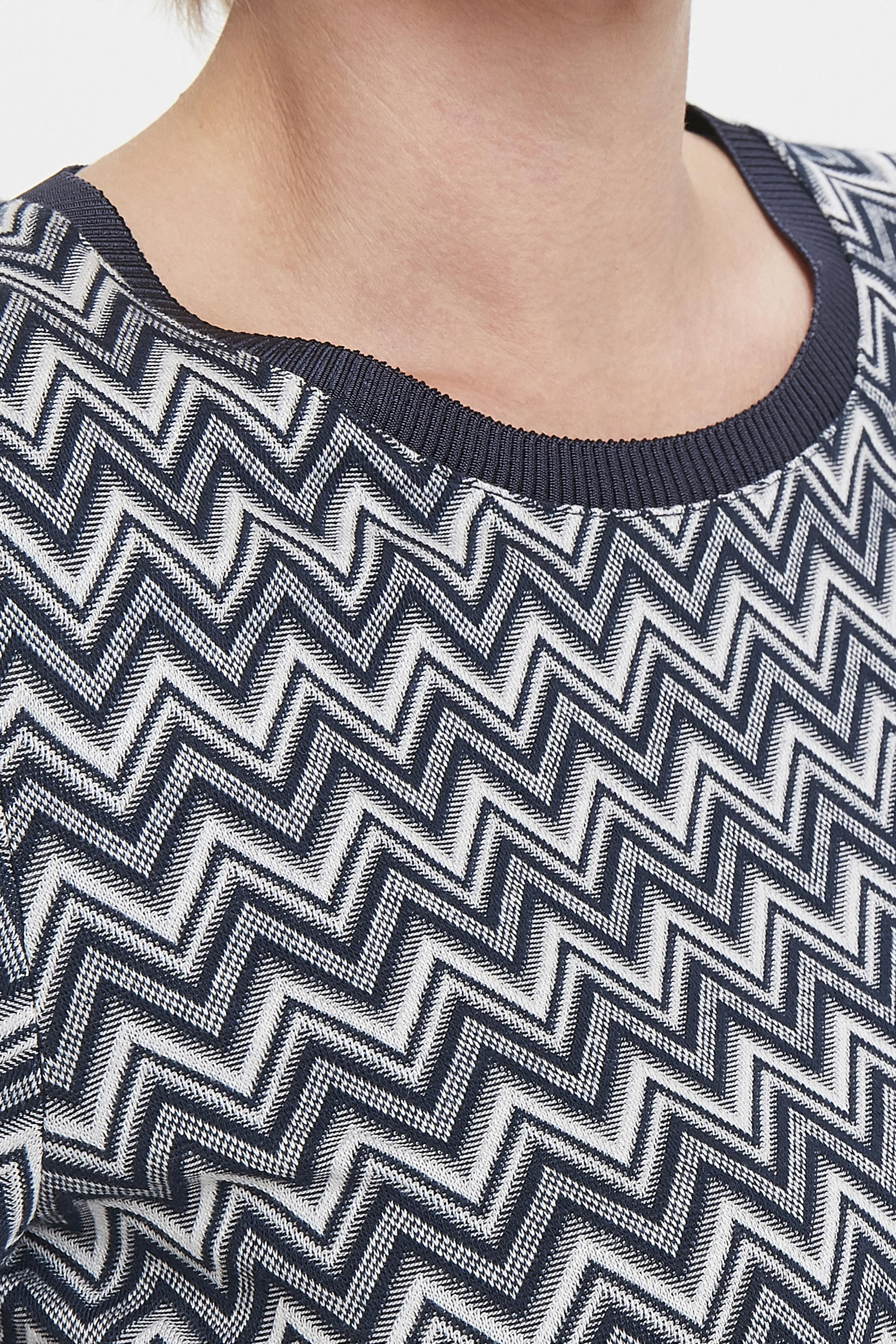 Marineblauw/off-white Korte mouwen shirt  van Bon'A Parte – Door Marineblauw/off-white Korte mouwen shirt  van maat. S-2XL hier