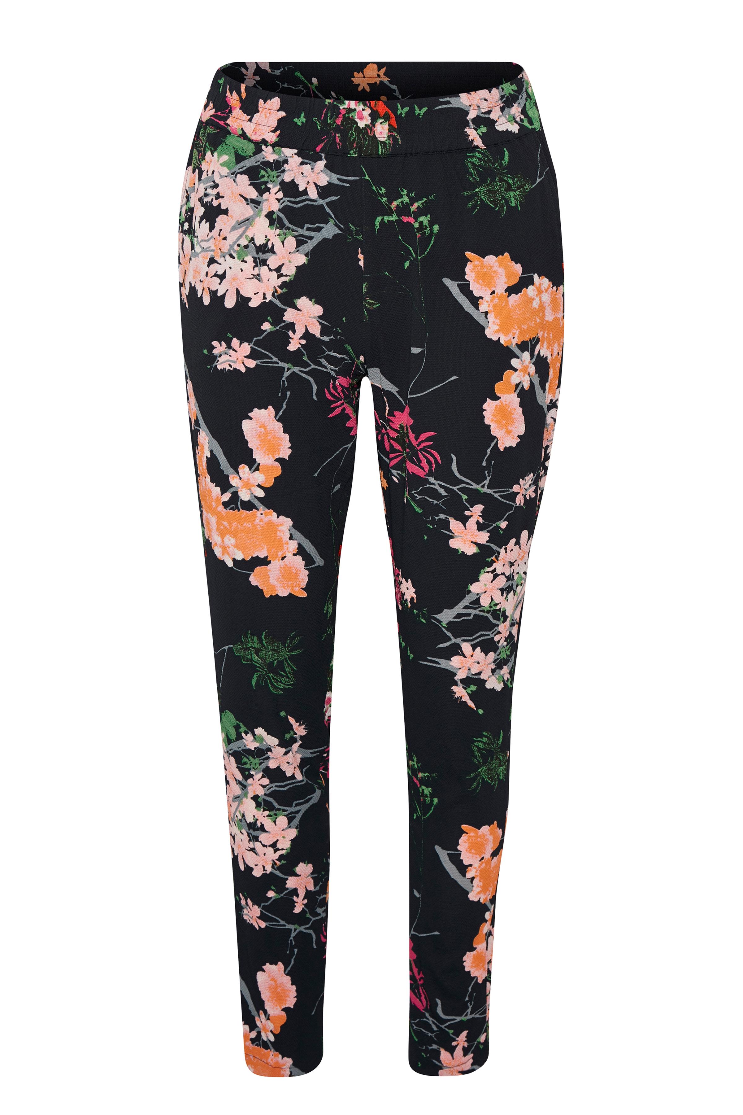 Marineblauw/roze Casual broek van Kaffe – Door Marineblauw/roze Casual broek van maat. 34-46 hier