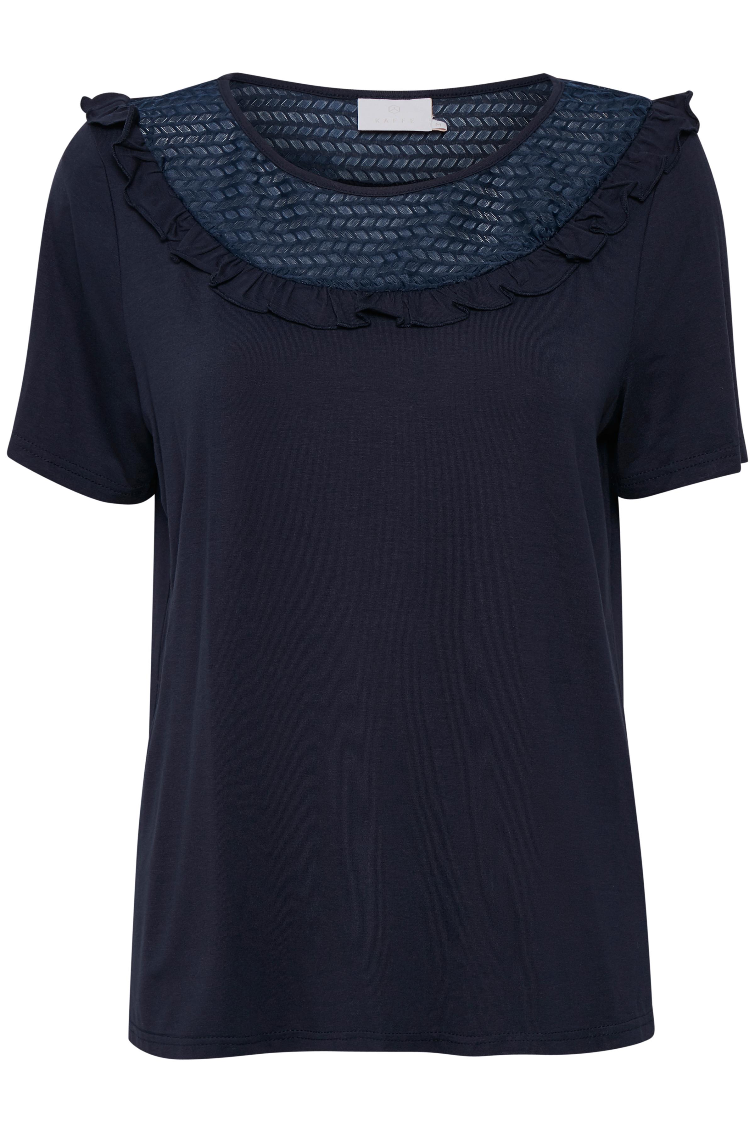 Kaffe Dame T-shirt korte mouw - Marineblauw